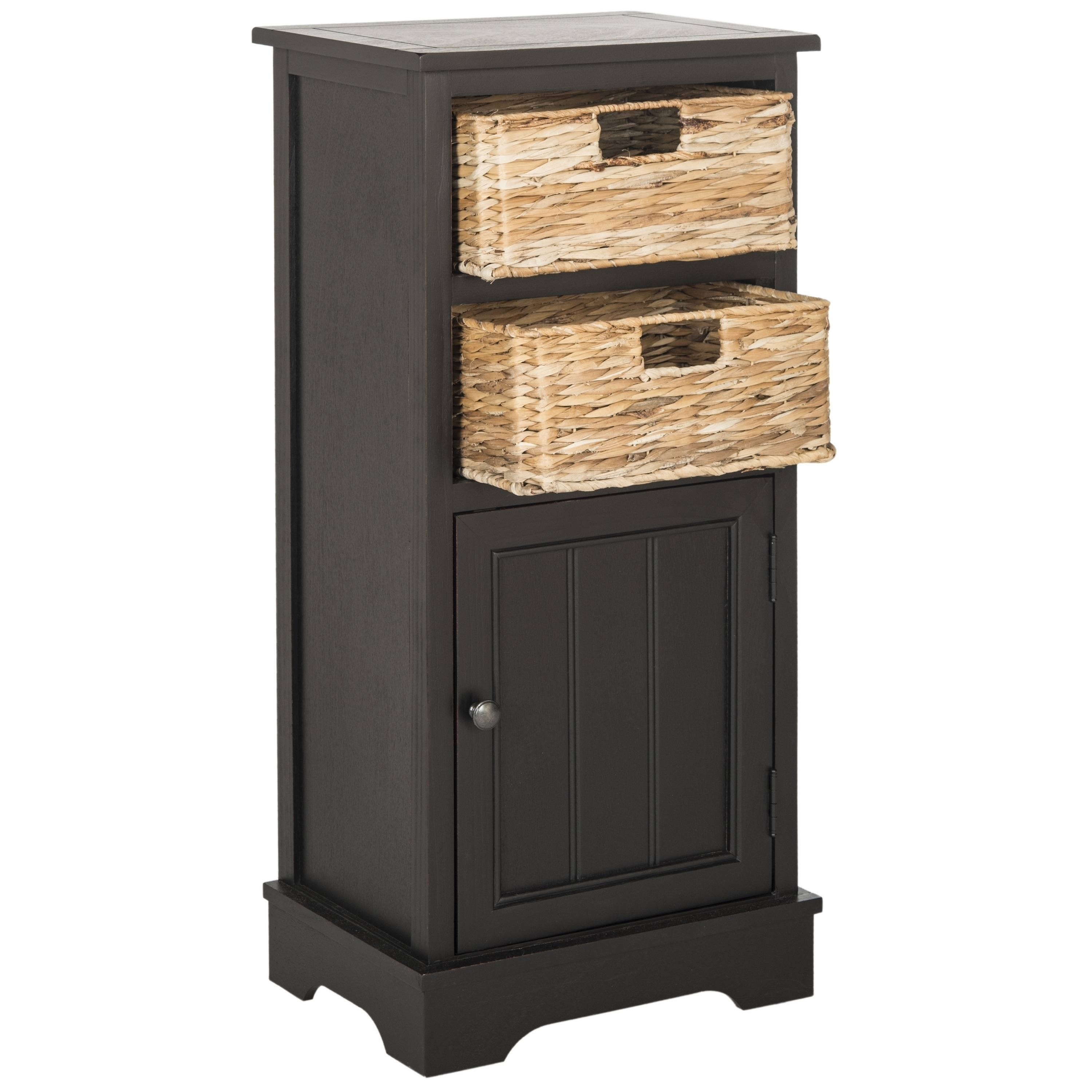 Safavieh Connery Distressed Black Storage Cabinet   Free Shipping Today    Overstock   17896340