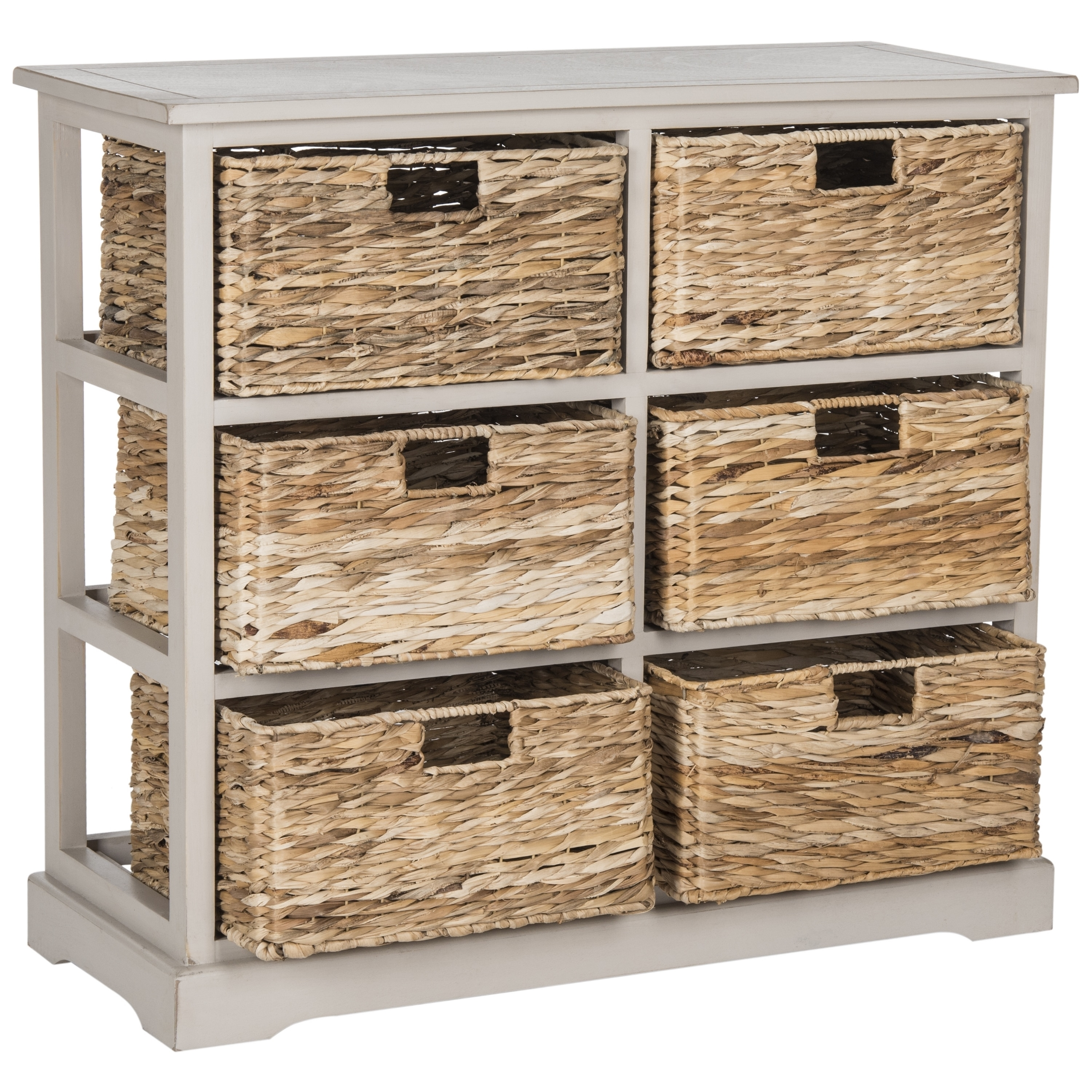 Ordinaire Shop Safavieh Keenan Vintage Grey 6 Drawer Wicker Basket Storage Chest   On  Sale   Free Shipping Today   Overstock.com   10857159