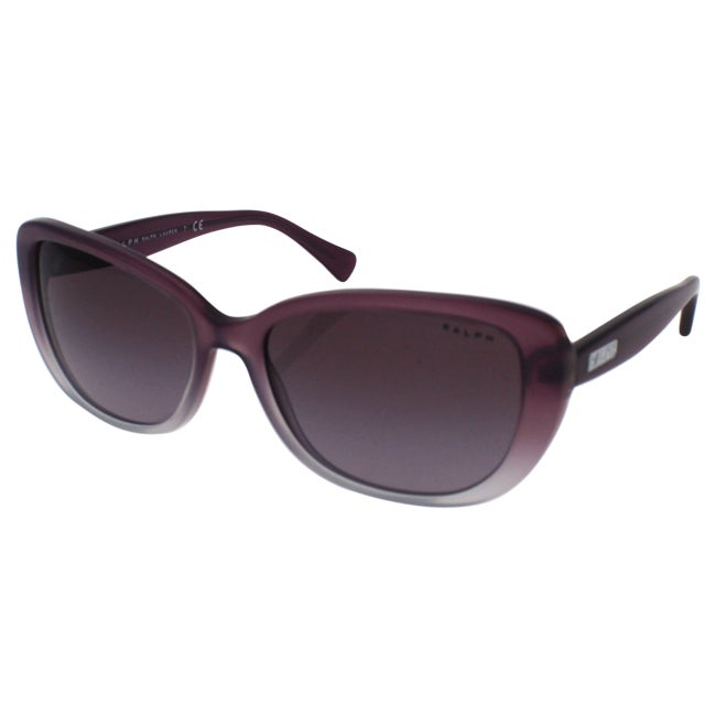 9ce64ea210a Shop Ralph by Ralph Lauren Women s RA5203 1090T5 Black Plastic Cat Eye  Polarized Sunglasses - Free Shipping Today - Overstock - 10857327