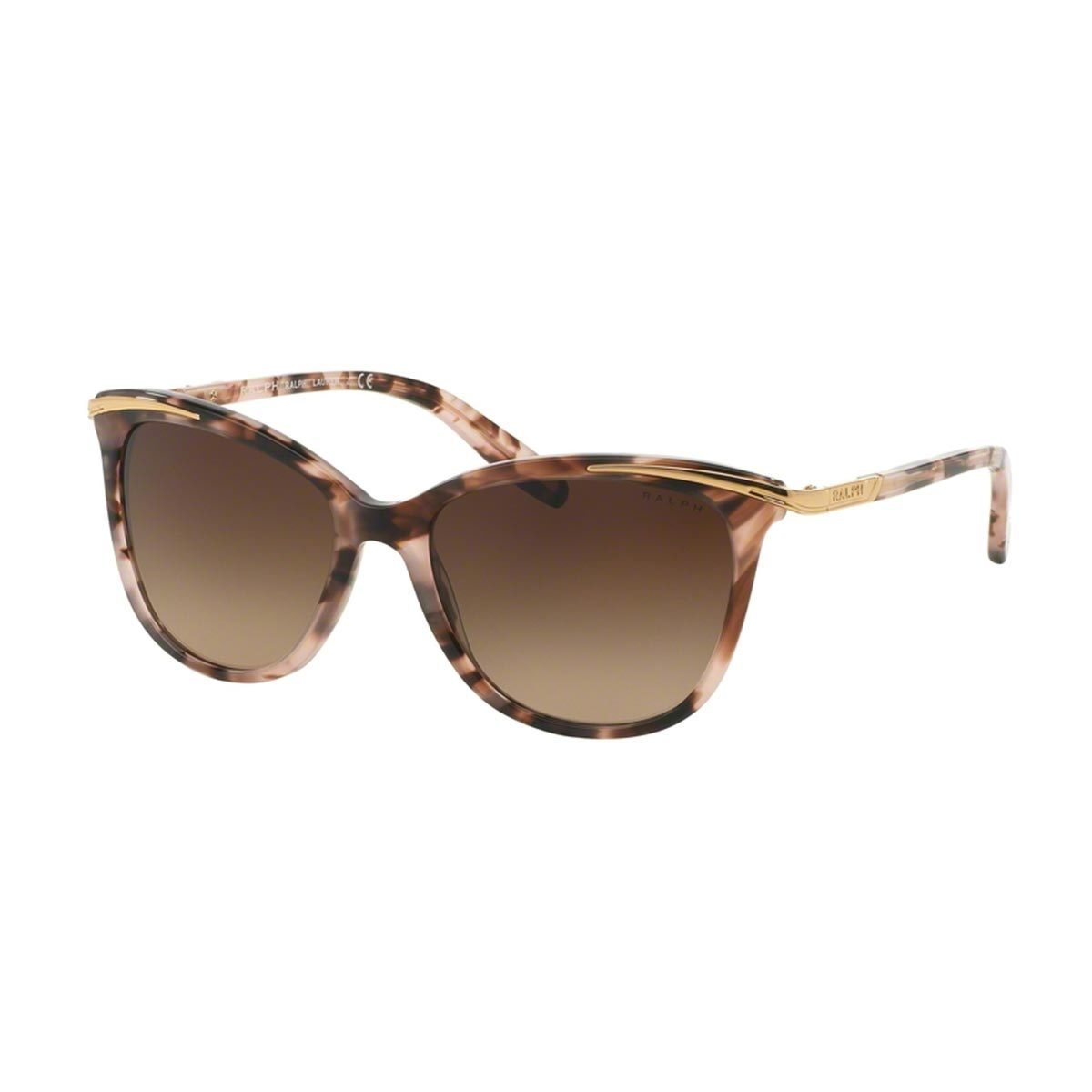 501c8c051d6 Ralph by Ralph Lauren Women s RA5203 Pink Plastic Cat Eye Sunglasses ...