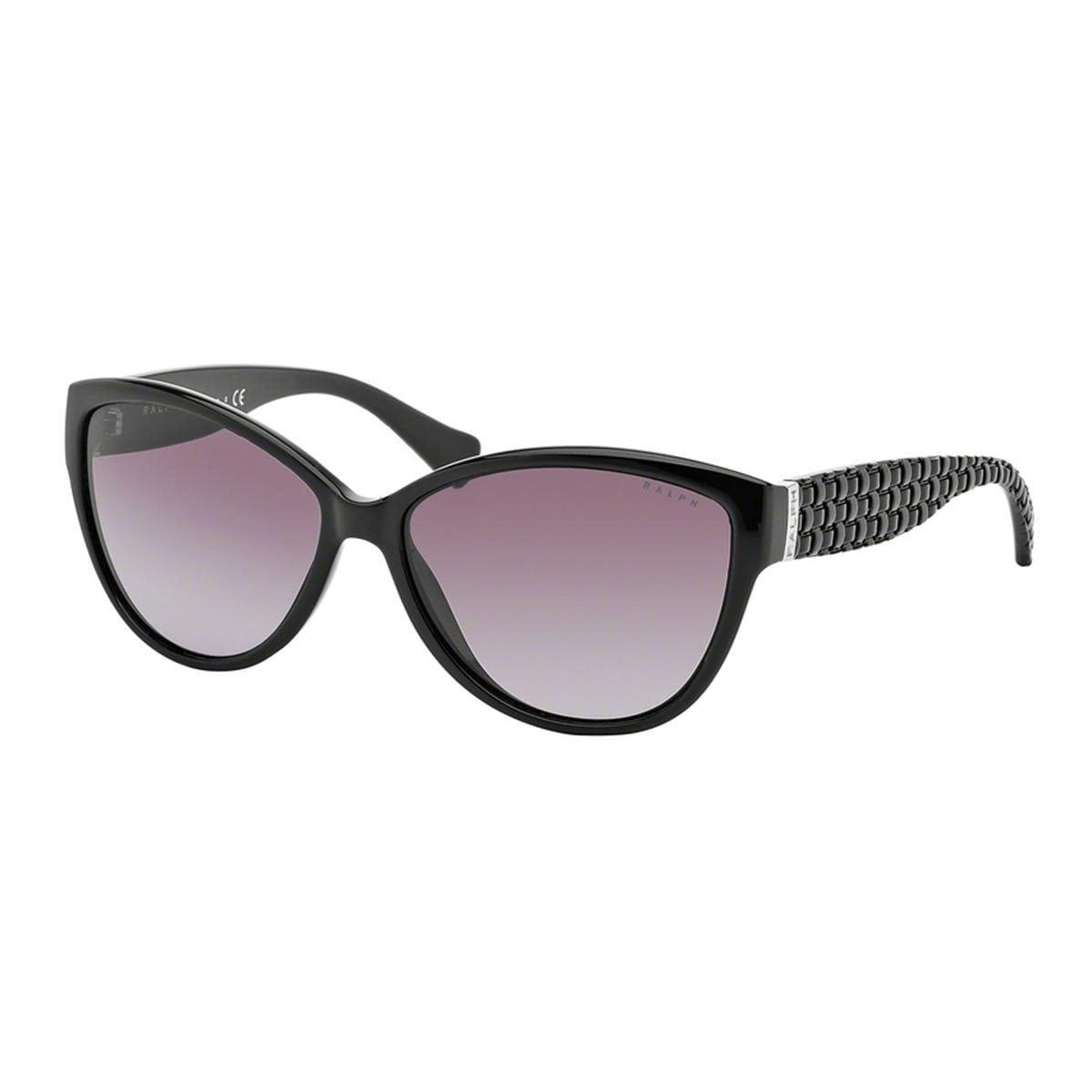 83f6f0e4c2b4 Shop Ralph by Ralph Lauren Women's RA5176 Black Plastic Cat Eye Sunglasses  - Free Shipping Today - Overstock - 10857524