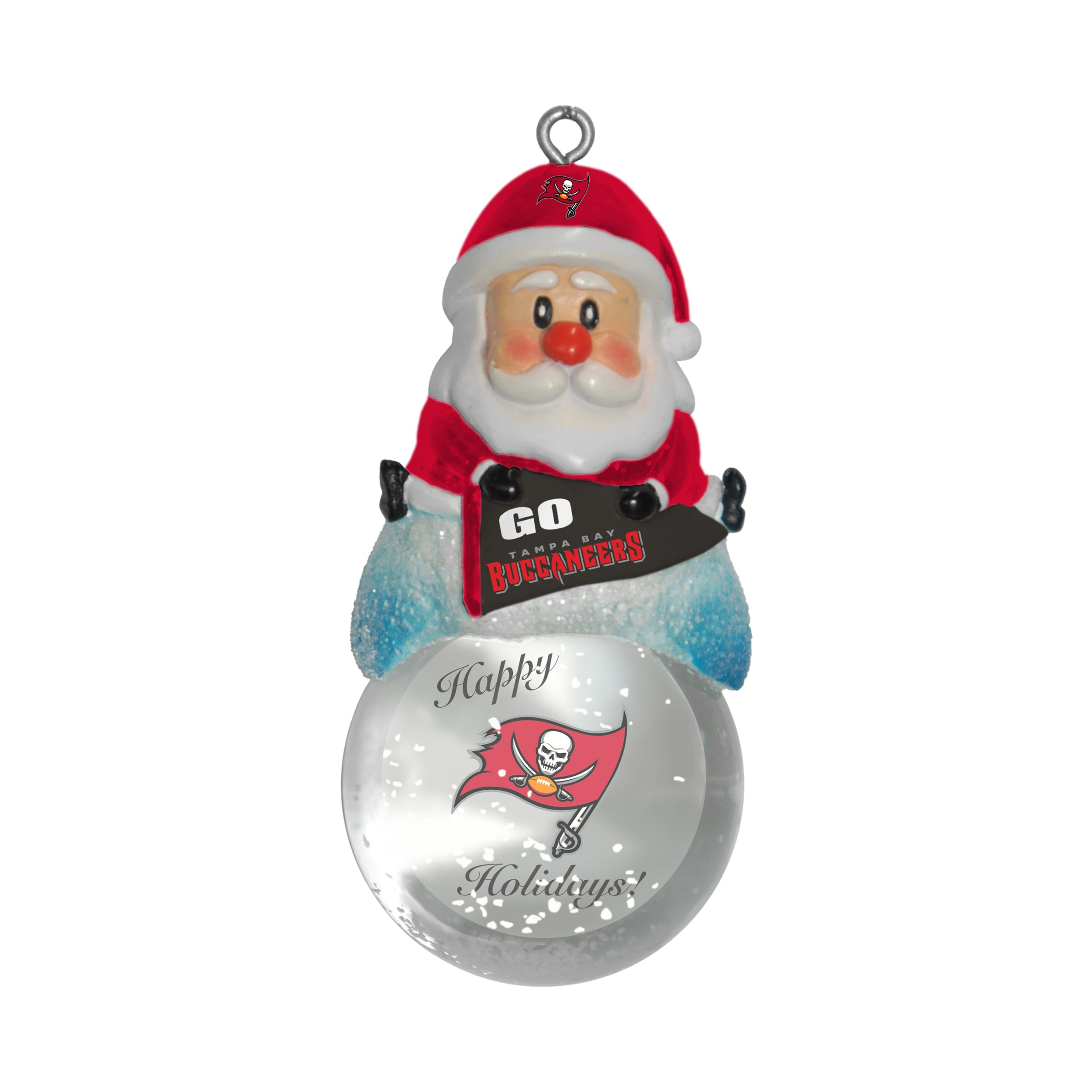 a292284a6db Shop Tampa Bay Buccaneers Santa Snow Globe Ornament - Free Shipping On  Orders Over  45 - Overstock - 10857563