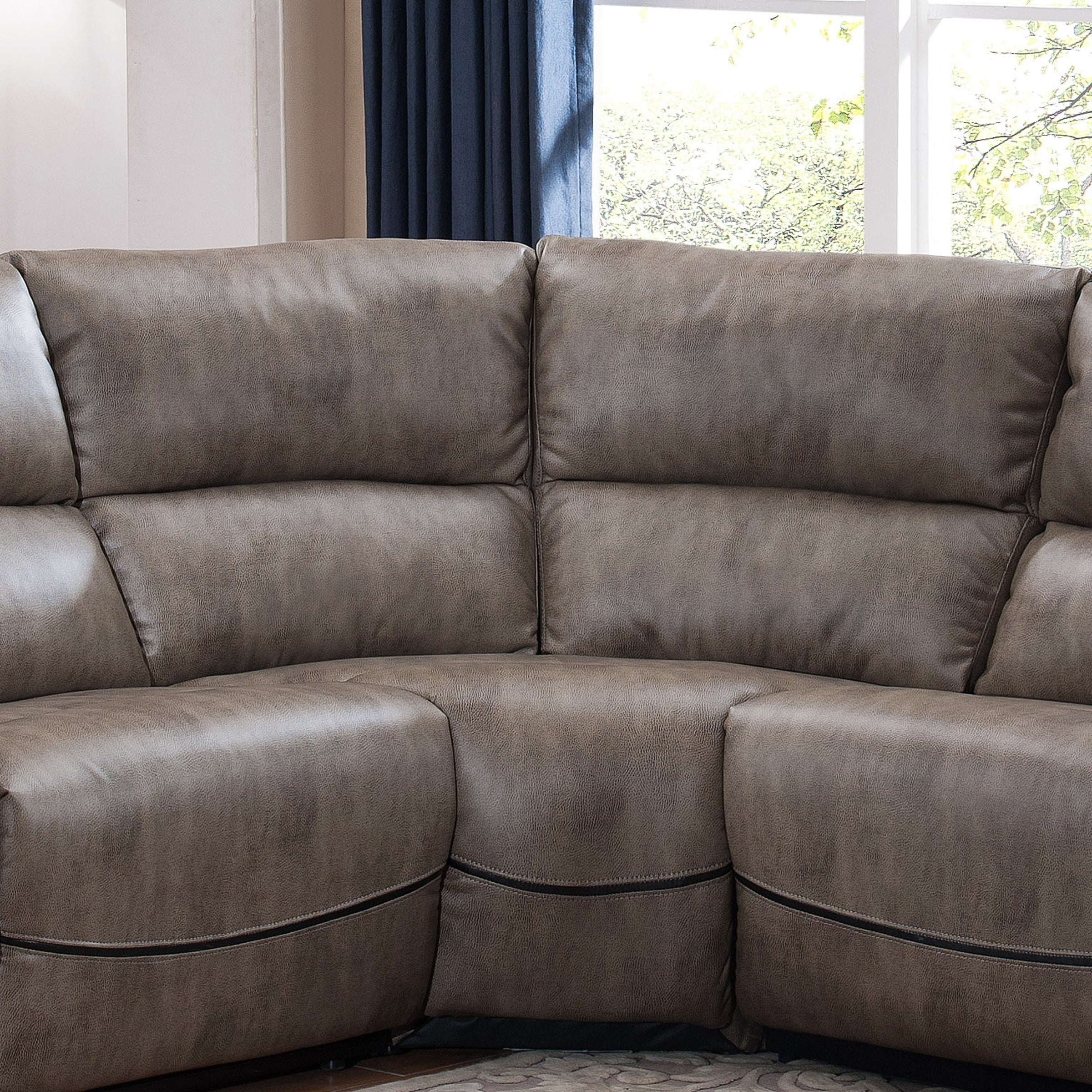 Shop Donovan Sectional Sofa With 3 Reclining Seats On Sale Free