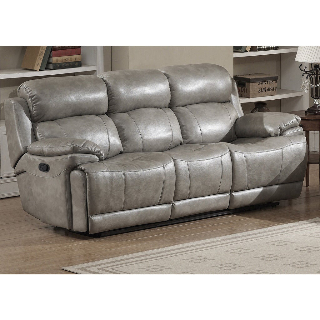 shop estella contemporary reclining sofa with 2 recliners on sale