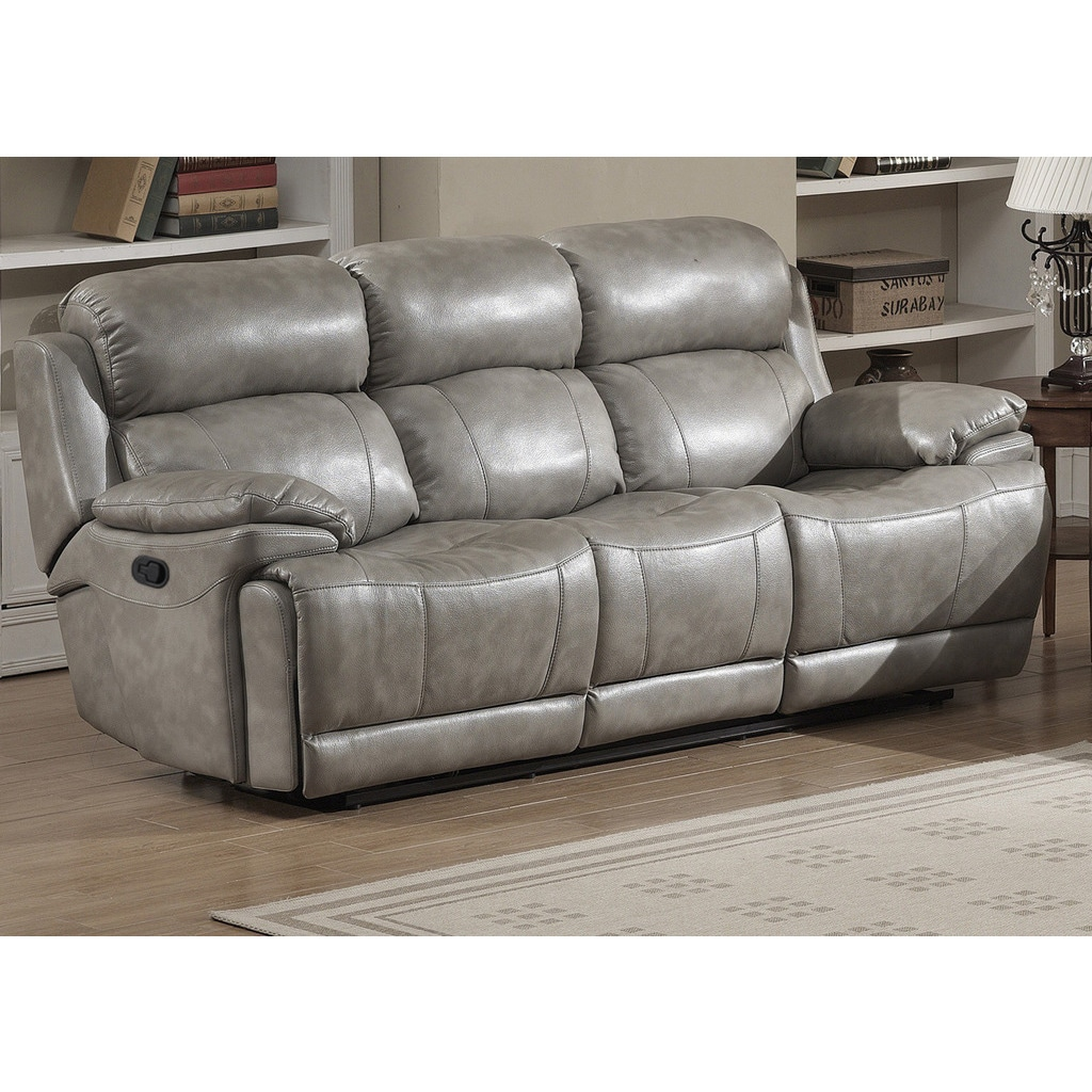 Shop Estella Contemporary Reclining Sofa with 2 Recliners - On Sale ...