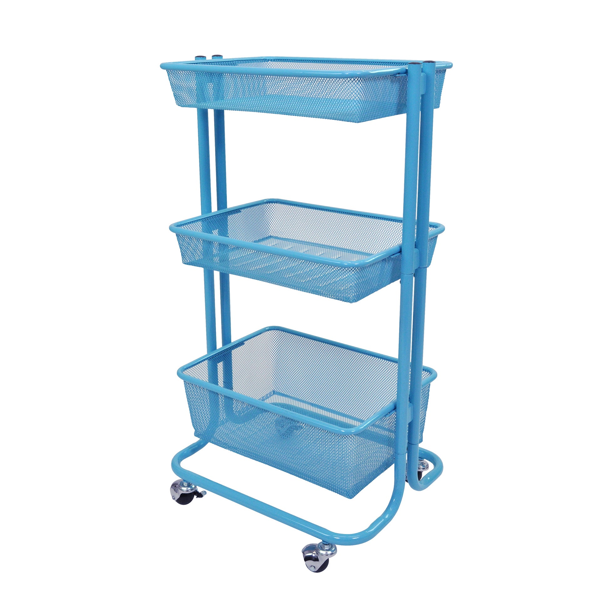 Shop luxor kitchen utility cart in blue free shipping today overstock com 10858517