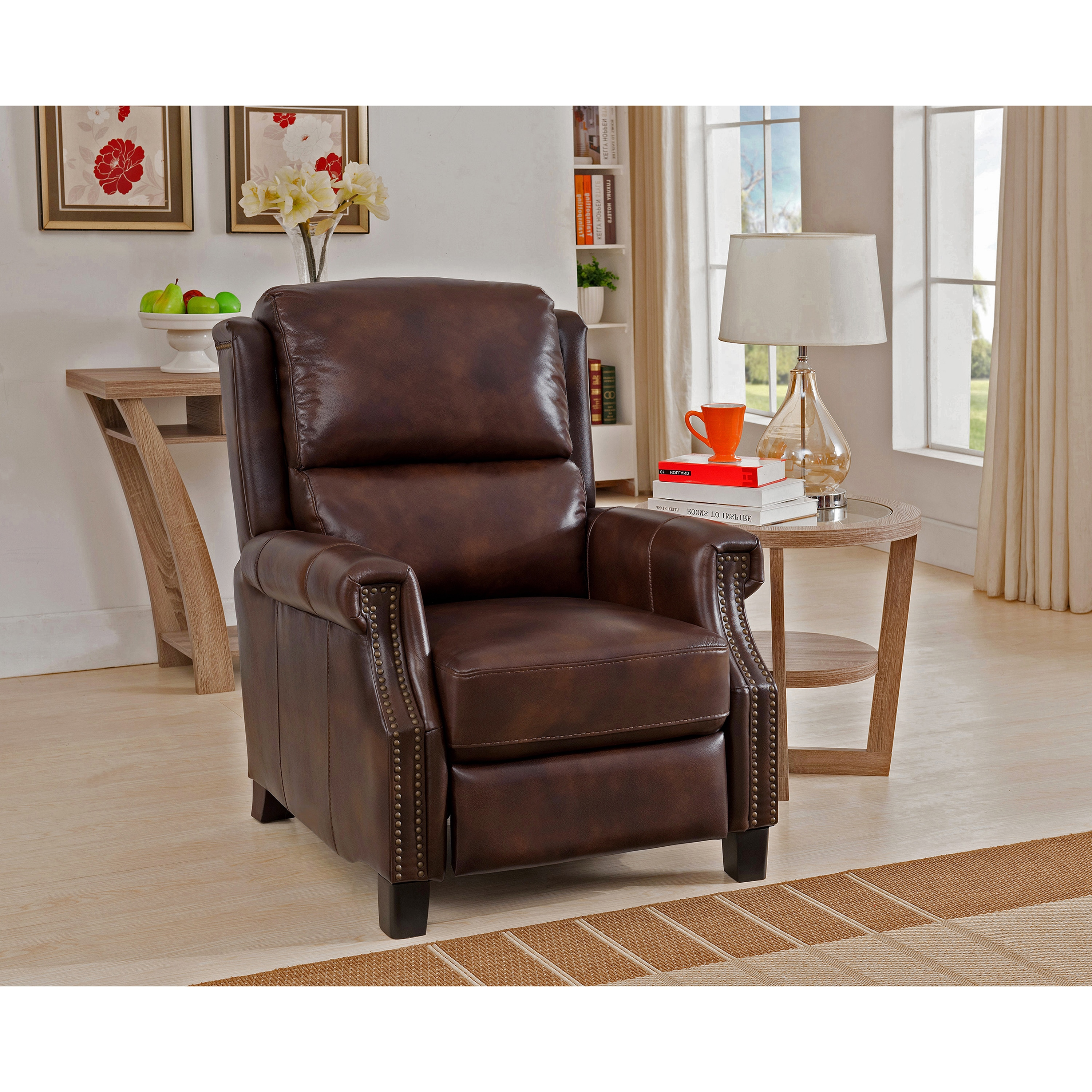free living shop ethan chairs shipping allen null recliners front us furniture and quick randall recliner en room leather chair fabric