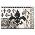 Counterart Cherish Fleur de Lis Glass 8x12-inch   Cutting Board