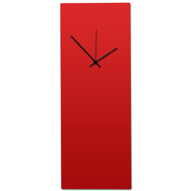 Metal Art Studio Redout Black Clock Large Minimalist Red Modern Wall On Free Shipping Today 10867351