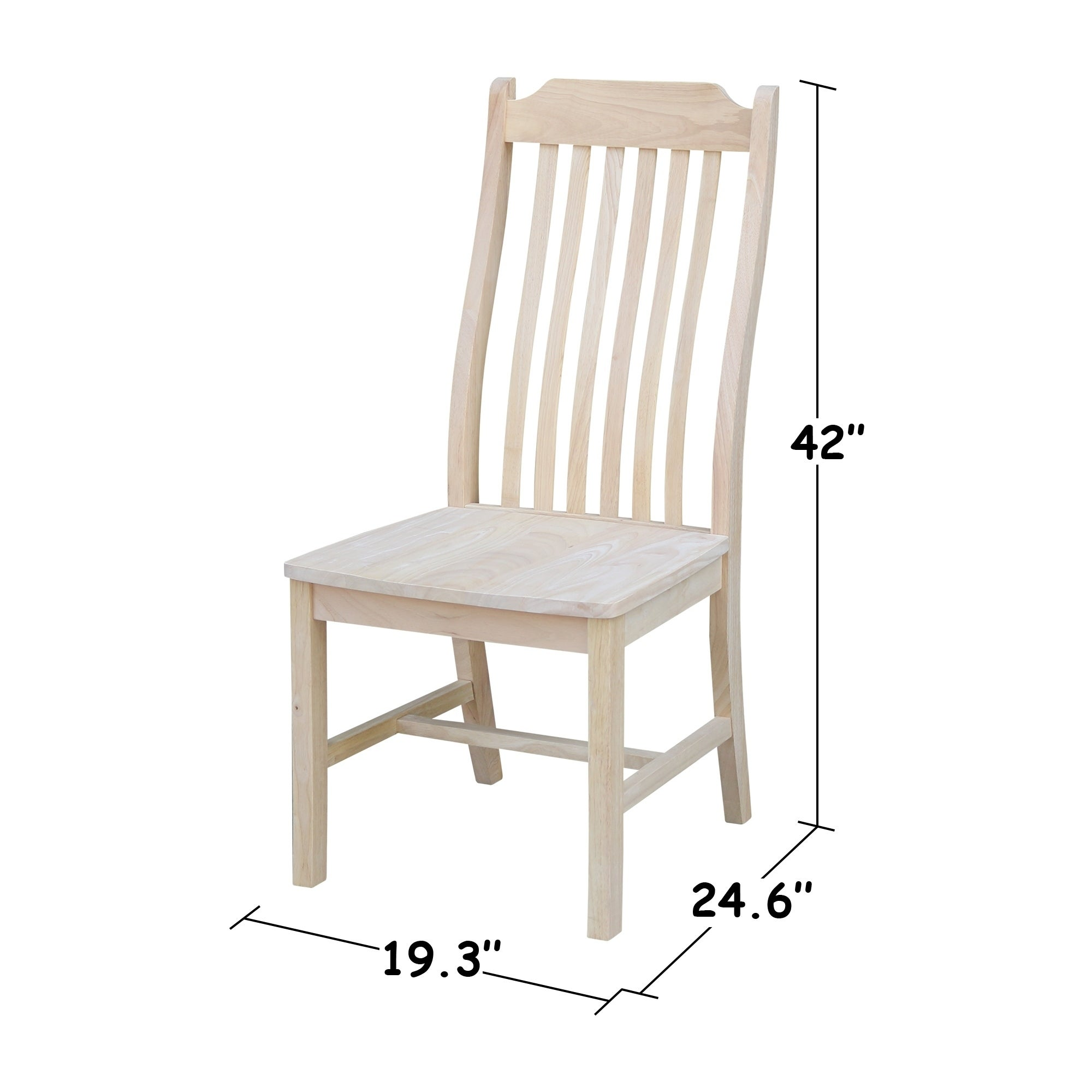 International Concepts Steambent Wooden Mission Style Dining Chairs Set Of 2
