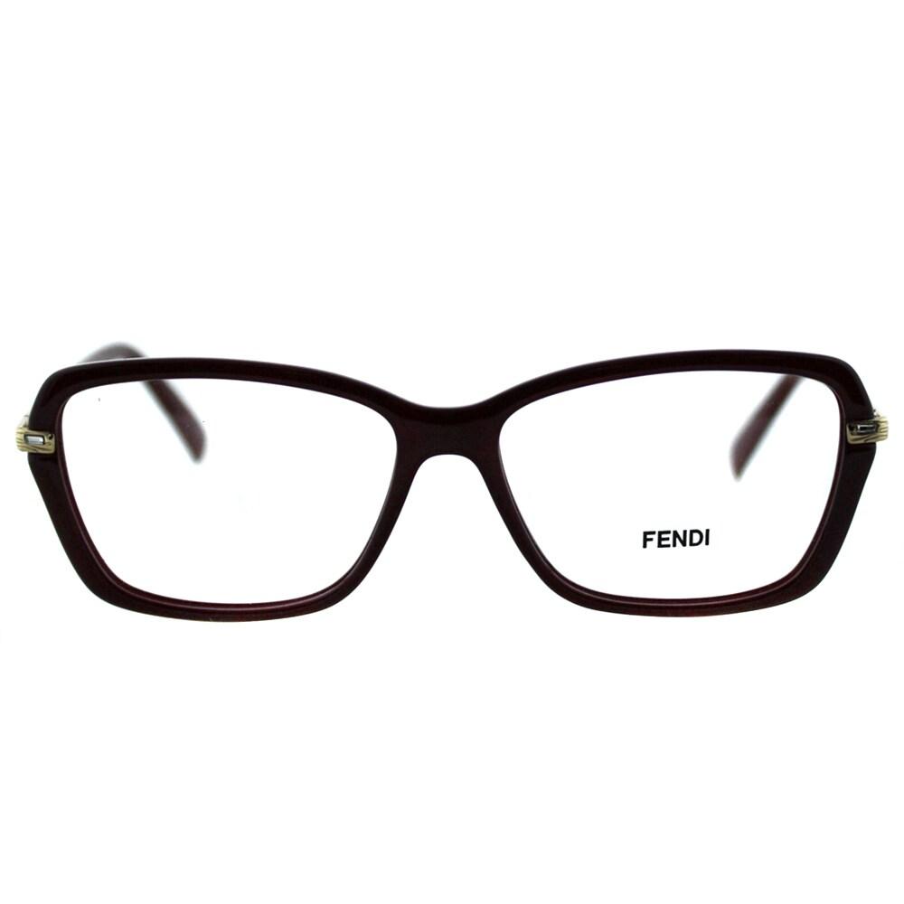 3ea584349ec Shop Fendi Women s FE 1042R 603 Bordeaux Plastic And Metal Rectangle  Eyeglasses - Free Shipping Today - Overstock - 10867723