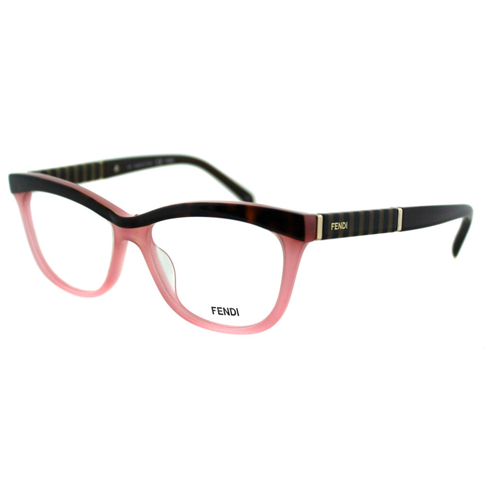 90bf9aea3c3d Shop Fendi Women s FE 1030 215 Havana And Rose Plastic Cateye Eyeglasses -  Free Shipping Today - Overstock - 10867762