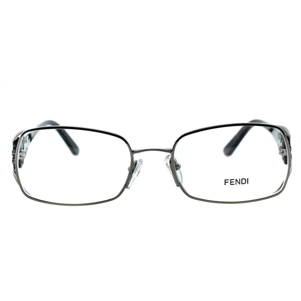3650ba416405 Shop Fendi Women s FE 872 036 Gunmetal Rectangle Metal Eyeglasses - Free  Shipping Today - Overstock.com - 10867777