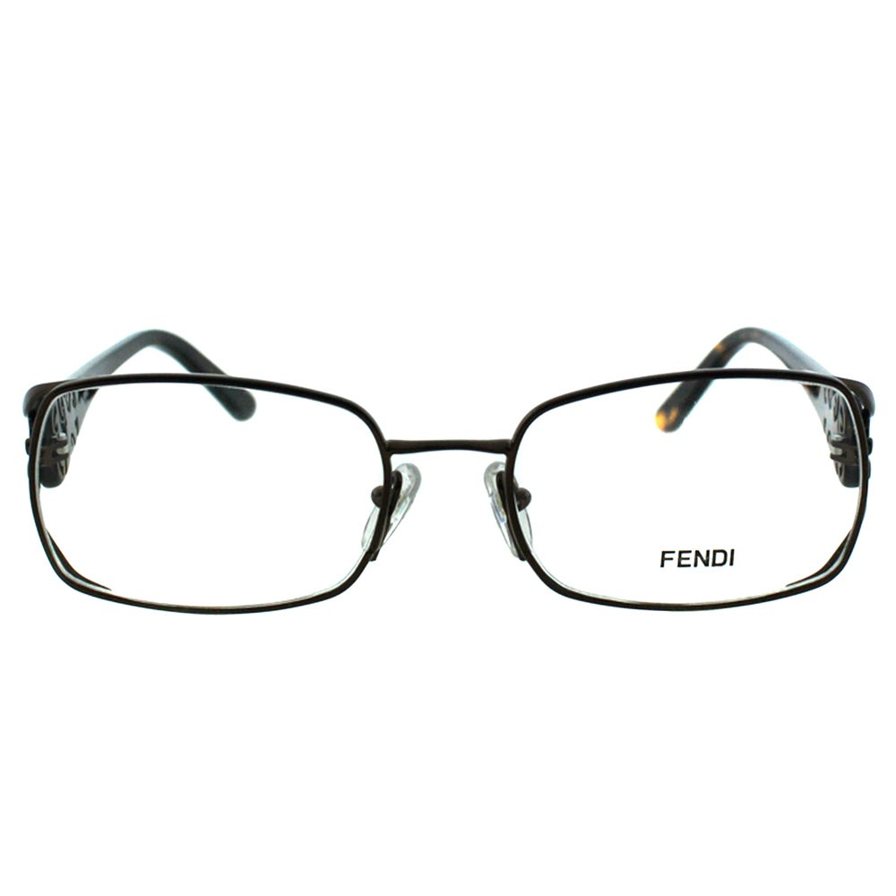 41b4f77855e3 Shop Fendi Women s FE 872 212 Brown Metal Rectangle Eyeglasses - Free  Shipping Today - Overstock - 10867779