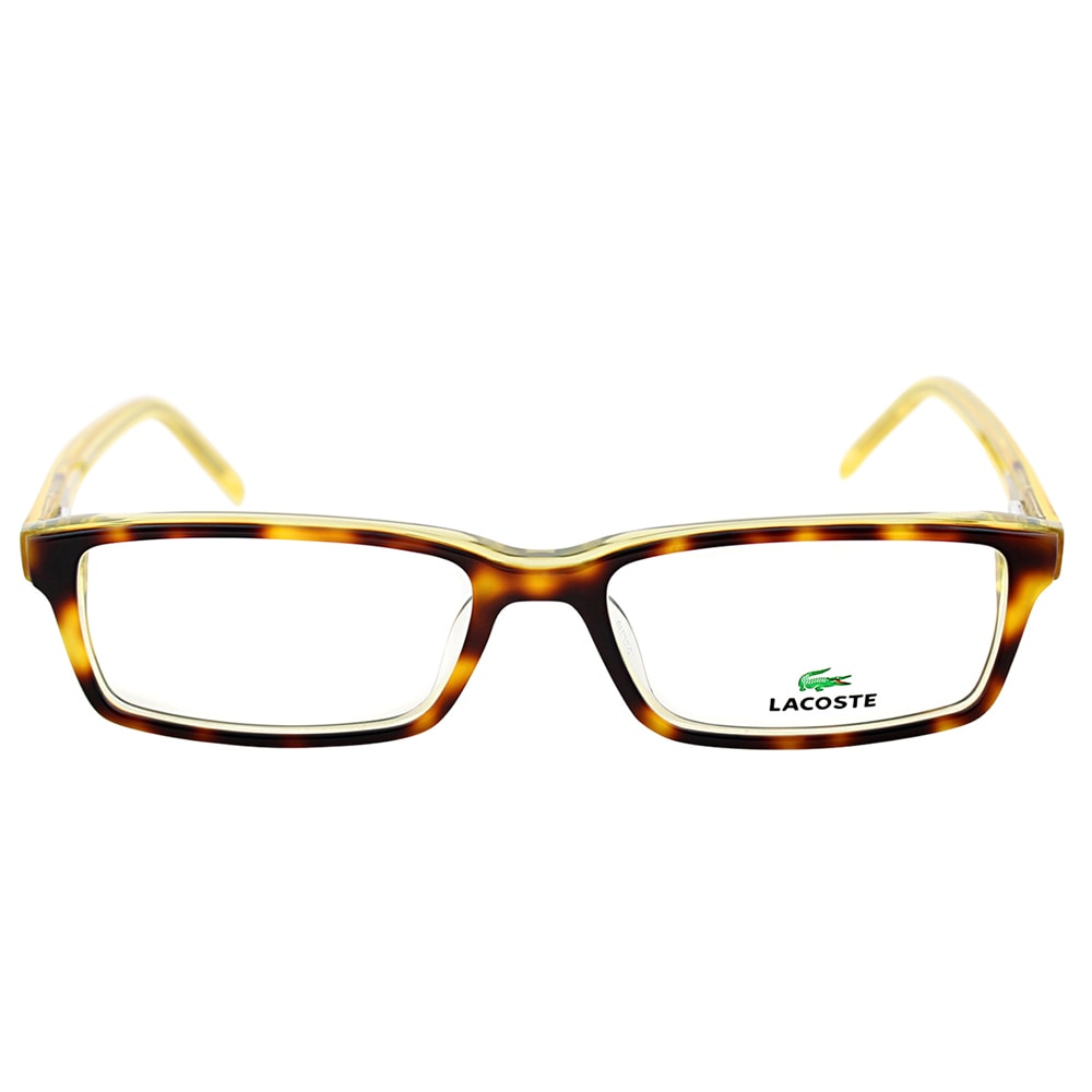 98541b908a3a Shop Lacoste Unisex LA 2614 214 Tortoise with Transparent Yellow Plastic Rectangle  Eyeglasses - Free Shipping Today - Overstock - 10867966