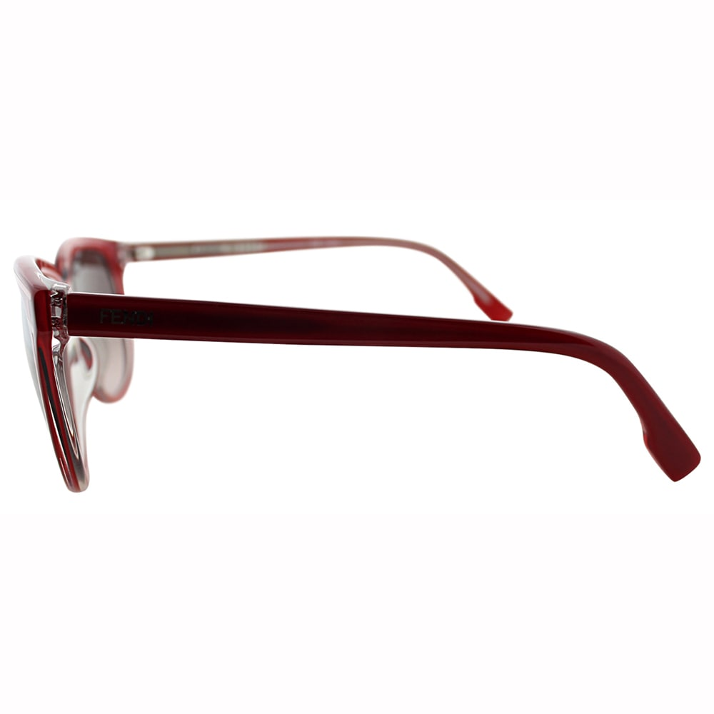 ead2df1833e83 Shop Fendi Women s FS 5279 615 Red Cat Eye Frame Brown Lens Sunglasses -  Free Shipping Today - Overstock - 10867987