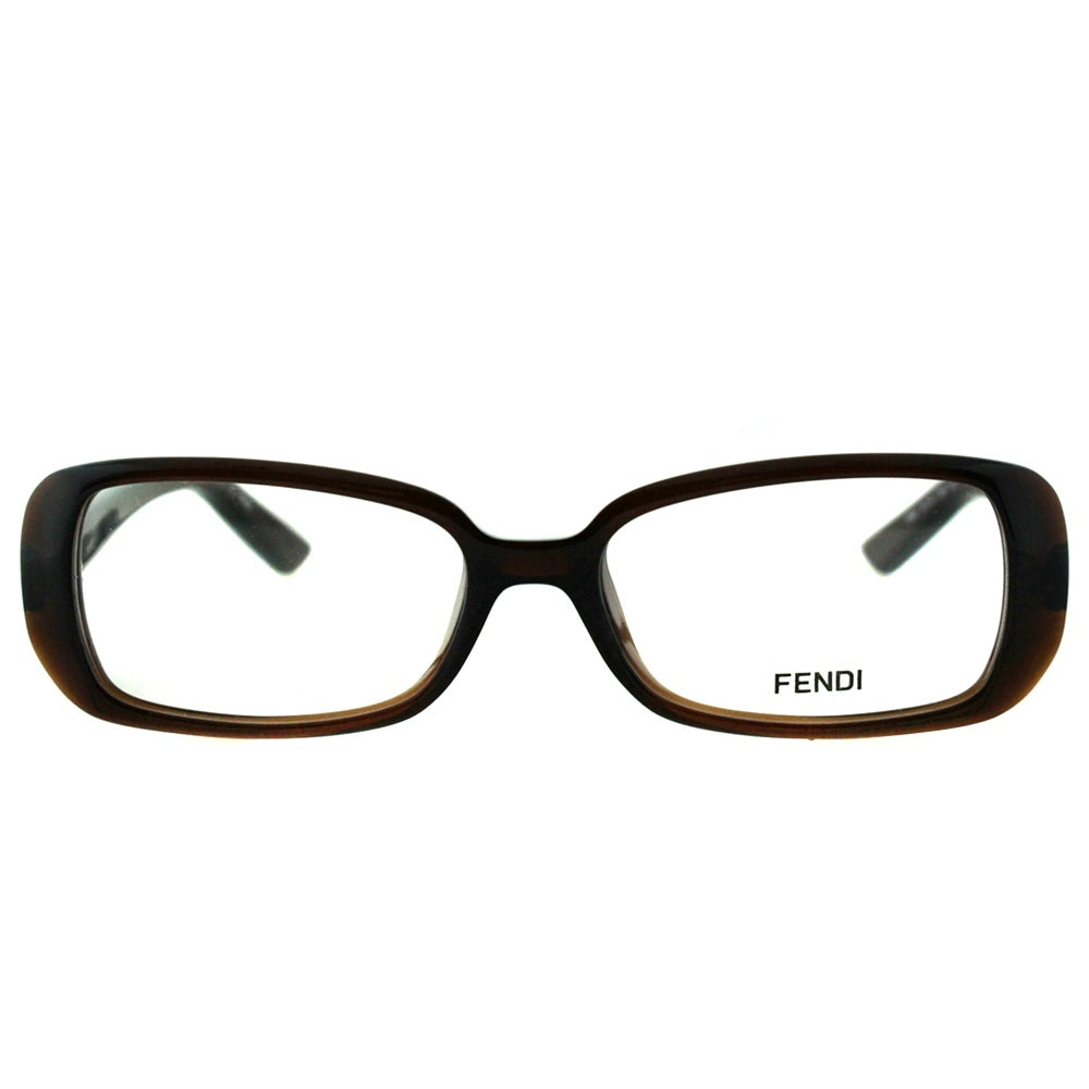 c63c9d8a8afa Shop Fendi Women s FE 898 209 Brown Plastic Rectangle Eyeglasses - Free  Shipping Today - Overstock - 10868009