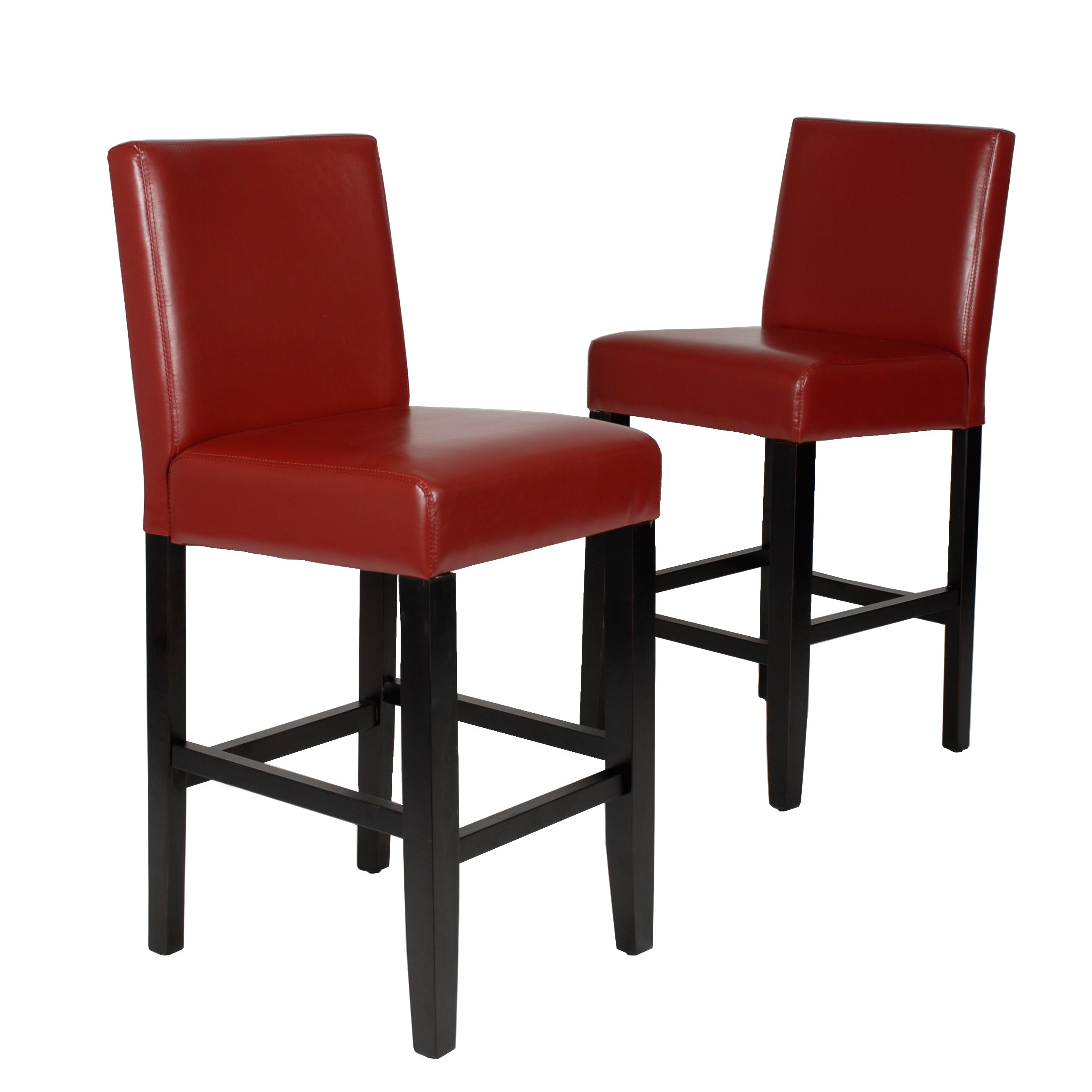 Shop Citylight 25 Inch Faux Leather Counter Height Barstool Set Of