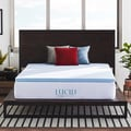 LUCID Ventilated 2-inch Gel Memory Foam Mattress Topper