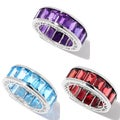 Sterling Silver Gemstone Eternity Band Ring