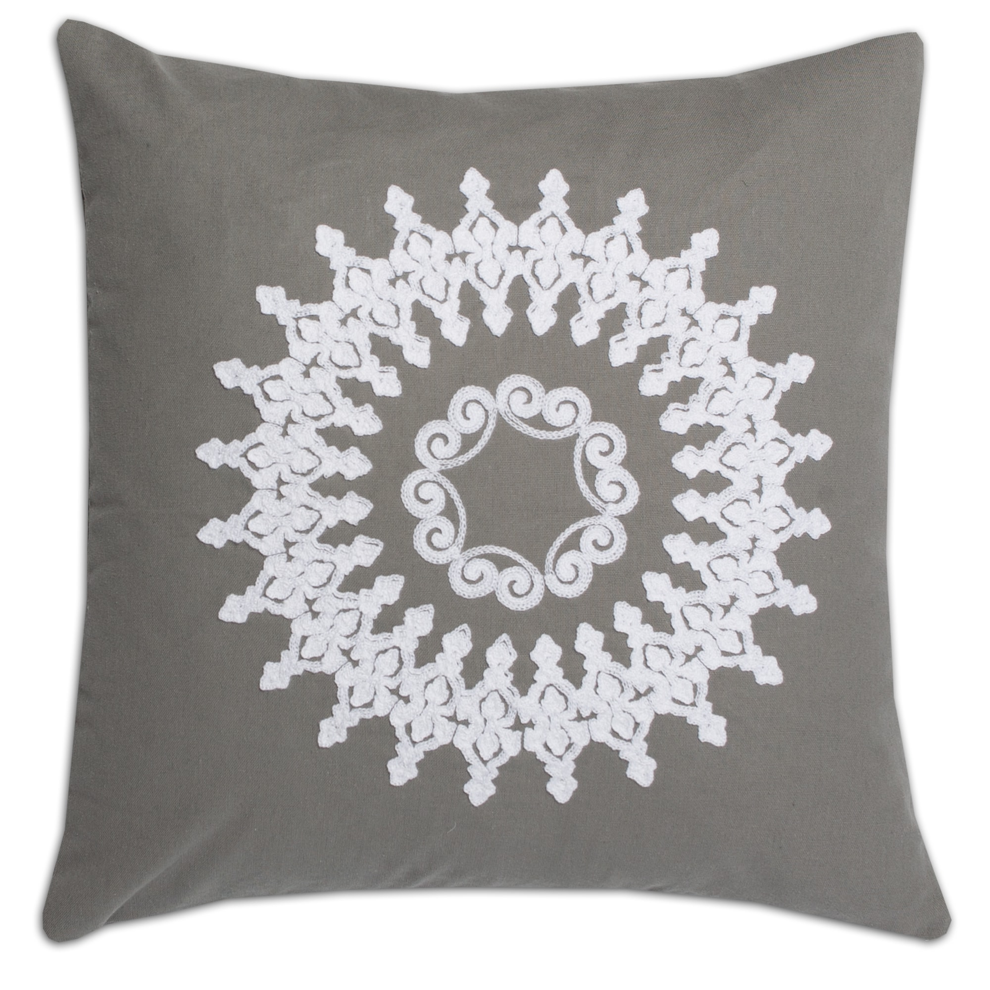 Luxury Linen Blend Embroidered Decorative Throw Pillow Shell With Insert  Options   Free Shipping On Orders Over $45   Overstock.com   17914351 Design Ideas