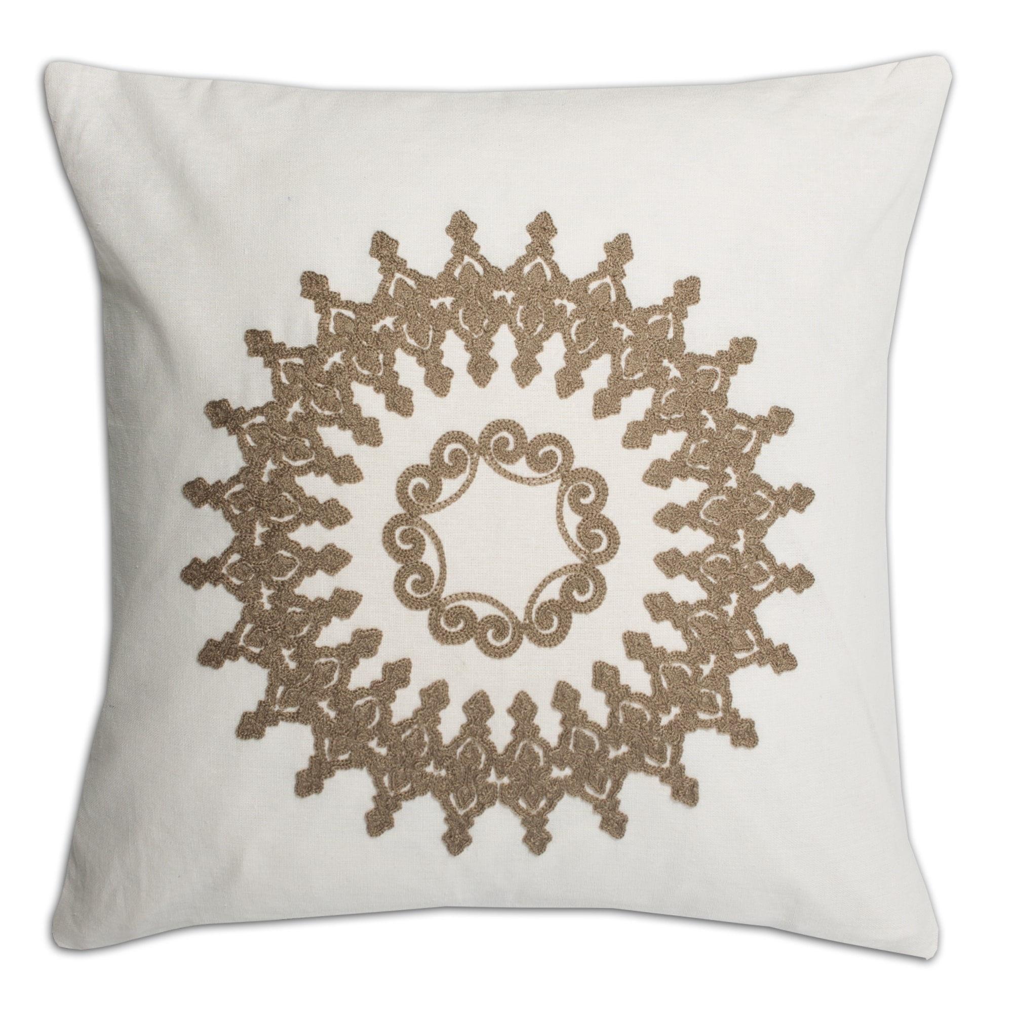 Good Luxury Linen Blend Embroidered Decorative Throw Pillow Shell With Insert  Options   Free Shipping On Orders Over $45   Overstock.com   17914351