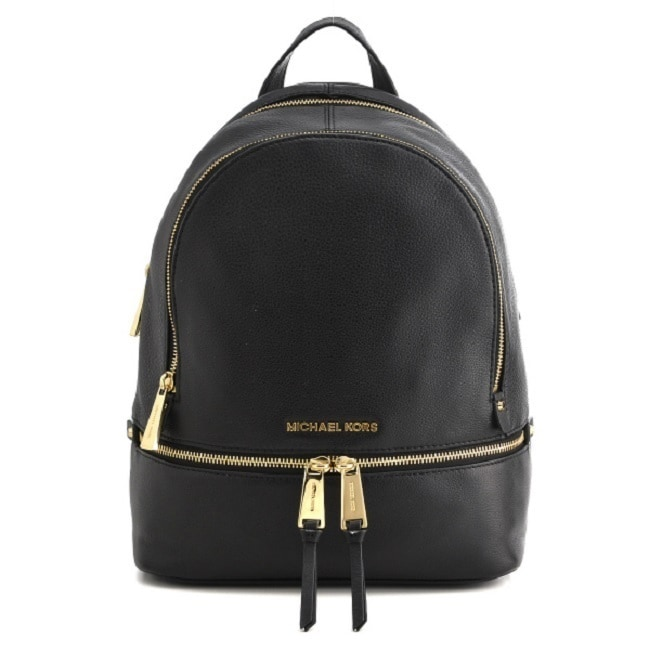 ccd30ff98533c Shop Michael Kors Rhea Zip Small Black Backpack - Free Shipping Today -  Overstock.com - 10878045