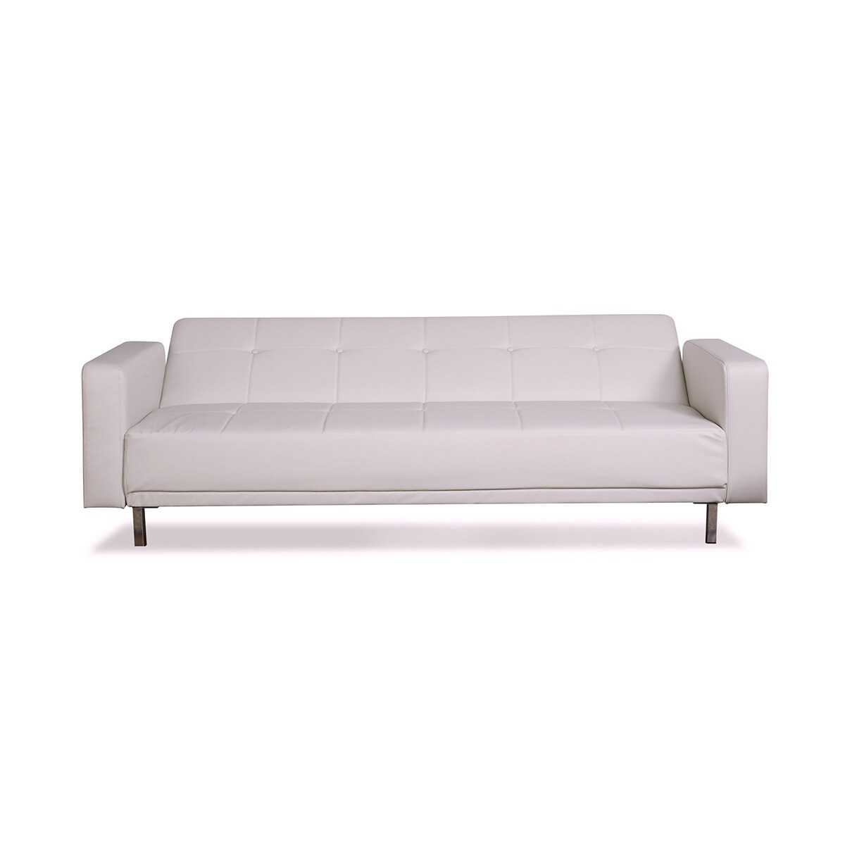 Shop Cleveland White Convertible Sofa Bed   Free Shipping Today    Overstock.com   10878853