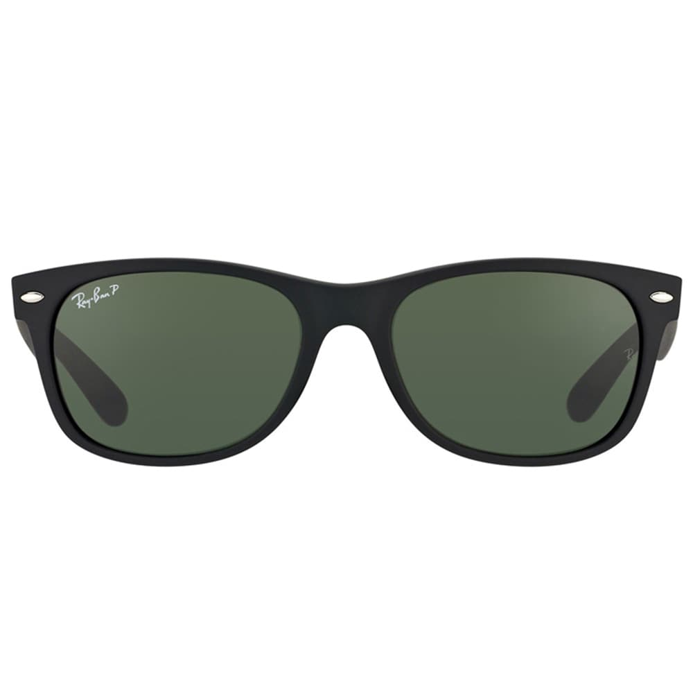 bf9279ac73f Shop Ray Ban Unisex RB 2132 New Wayfarer 622 58 Rubber Black Plastic  Sunglasses-55mm - Free Shipping Today - Overstock - 10878919