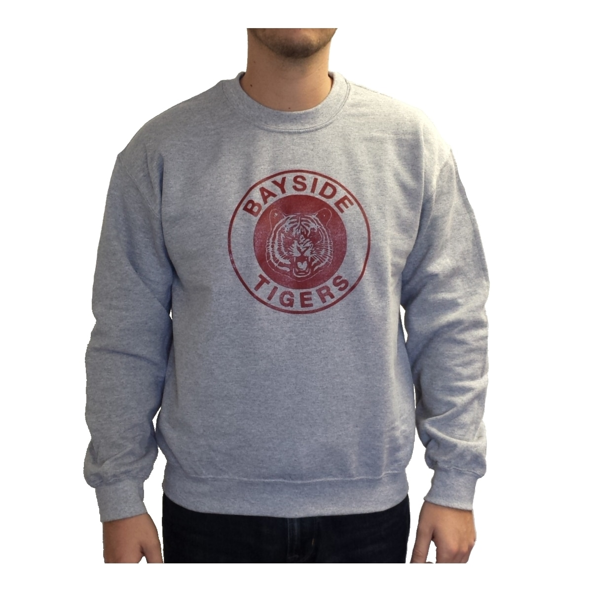 Shop Zack Morris Bayside Tigers Crew Neck Sweatshirt Saved By The ...