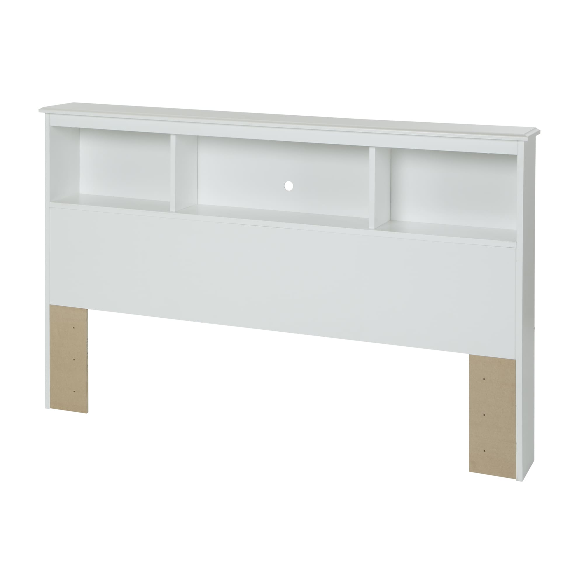 Shop full size 54 inch white bookcase headboard free shipping today overstock com 10879427