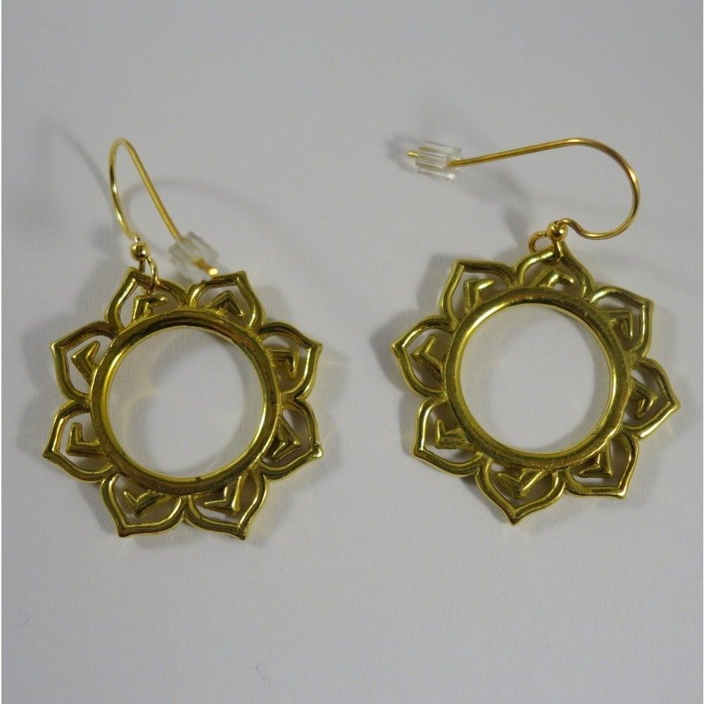 Shop Handmade Lotus Flower Earrings By Spirit Tribal Fusion