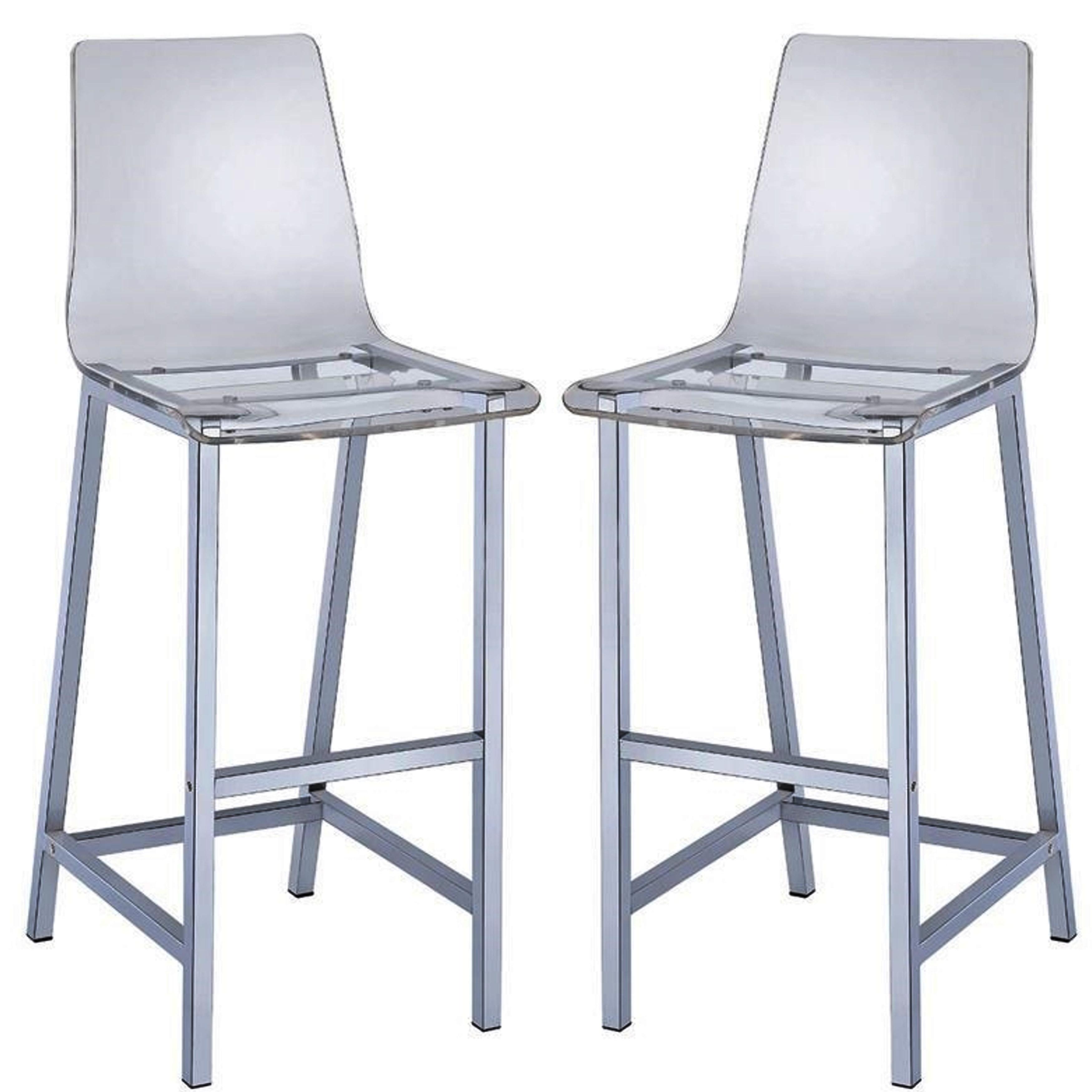 Shop melaney art deco sleek design clear acrylic bar stools set of 2 free shipping today overstock com 10883313