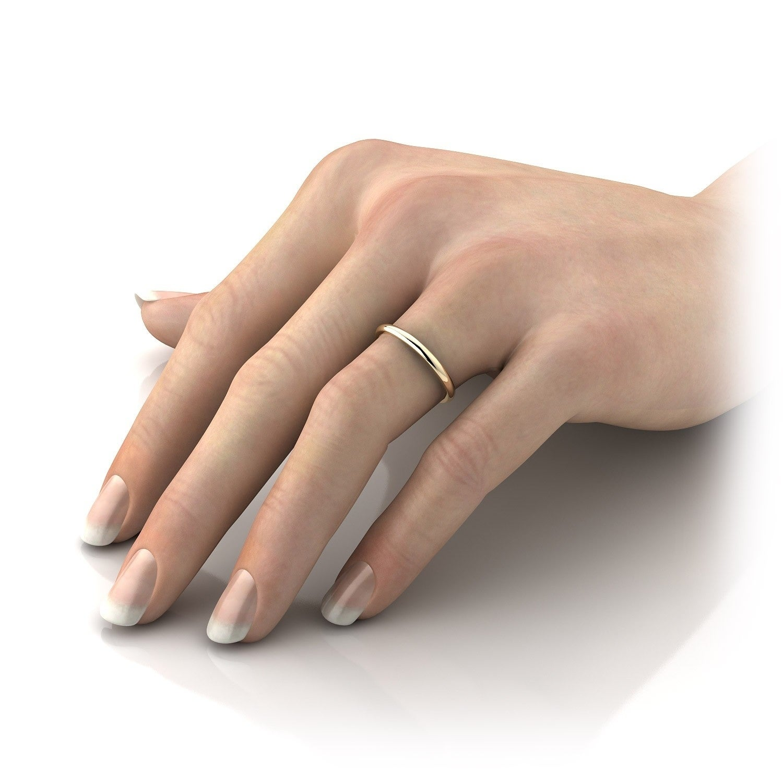 Pori 14k Yellow Gold 2mm Band Ring Free Shipping Today 17919244