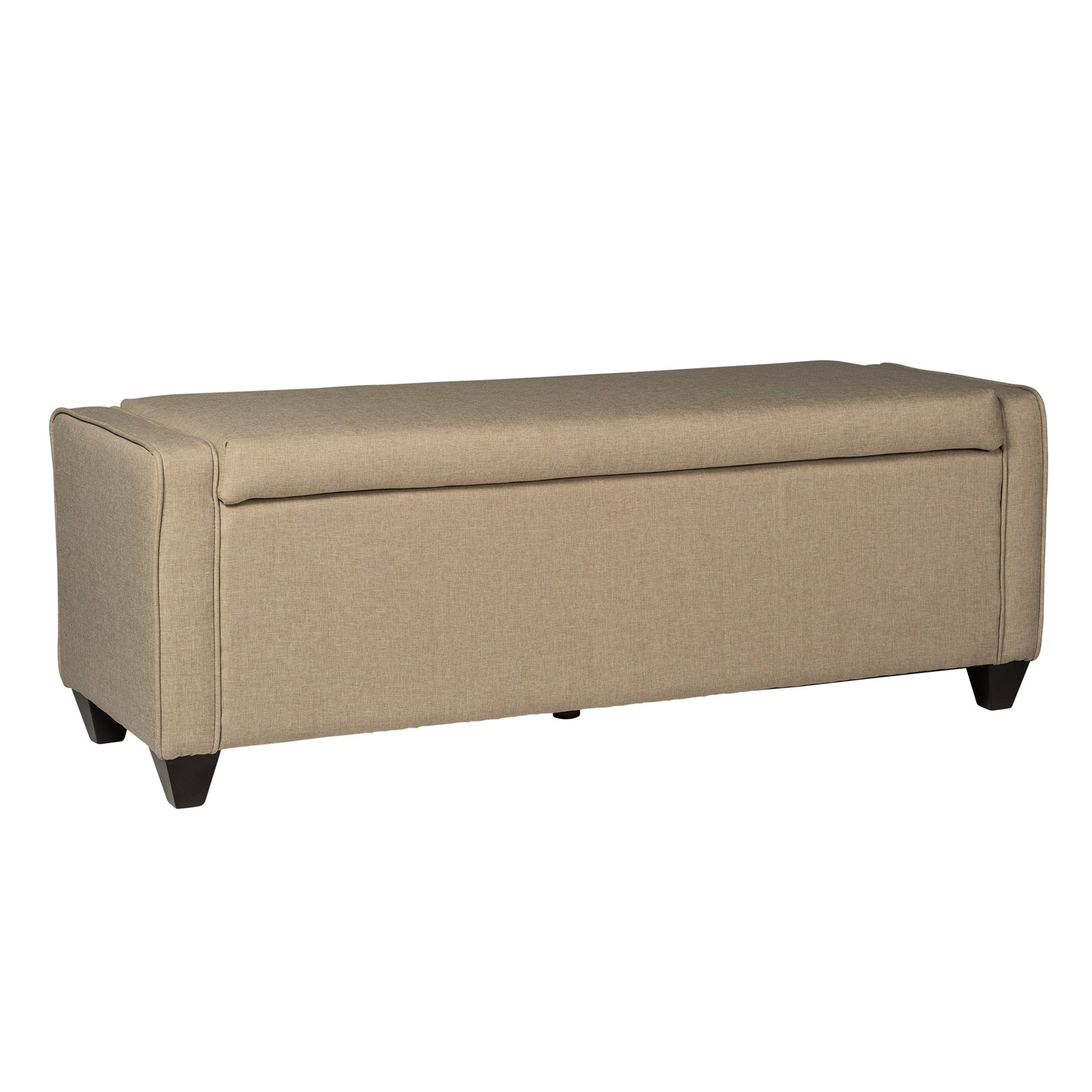 Merveilleux Shop Natural Linen Flip Top Storage Bench   Free Shipping Today    Overstock.com   10883662
