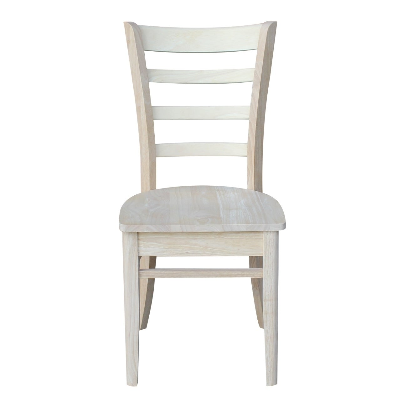Shop international concepts emily unfinished wooden dining chairs set of 2 free shipping today overstock com 10884934