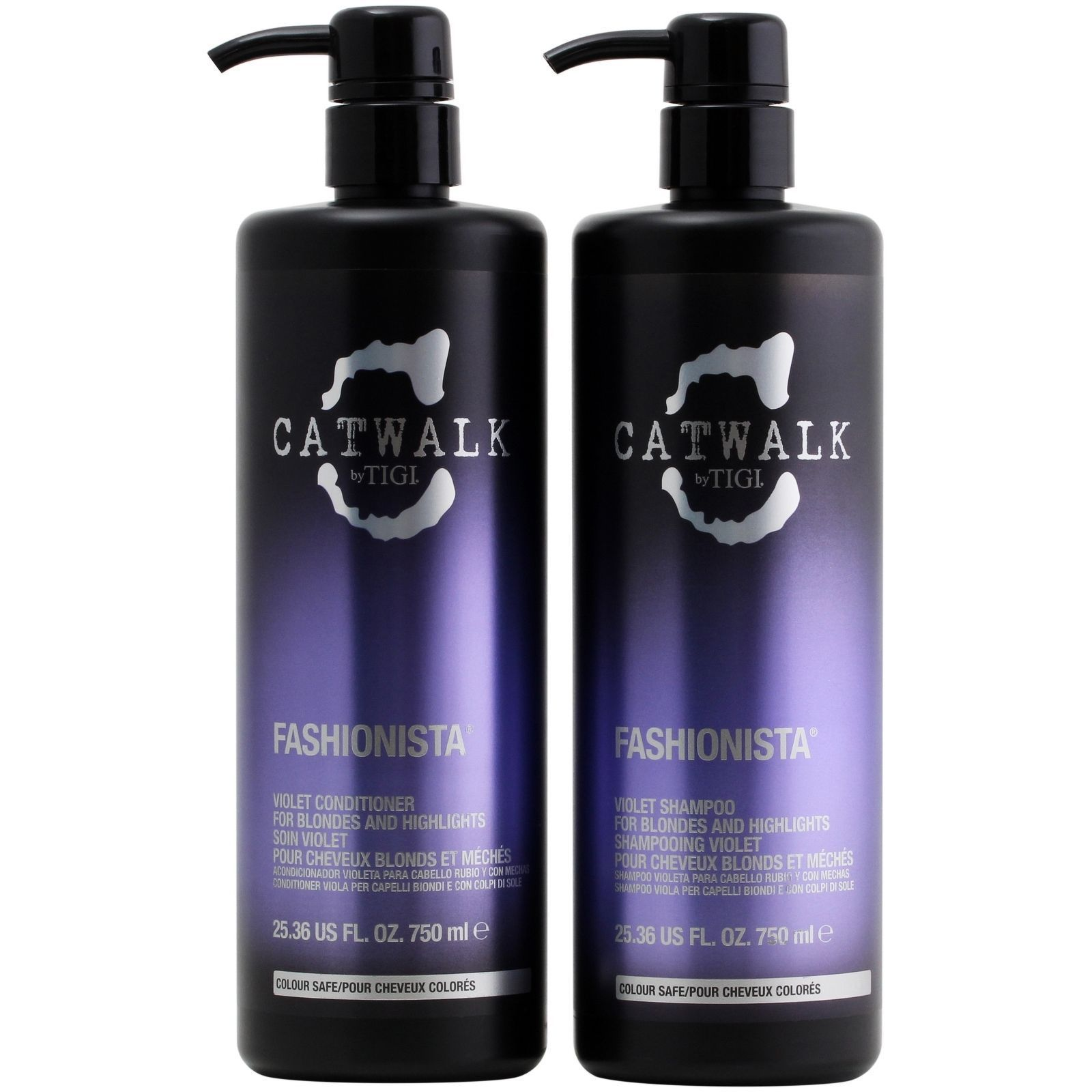 Shop Tigi Catwalk Fashionista Violet Shampoo And Conditioner Set