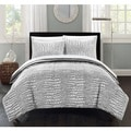 Chic Home Caimani Grey Faux Fur Queen 3-piece Comforter Set