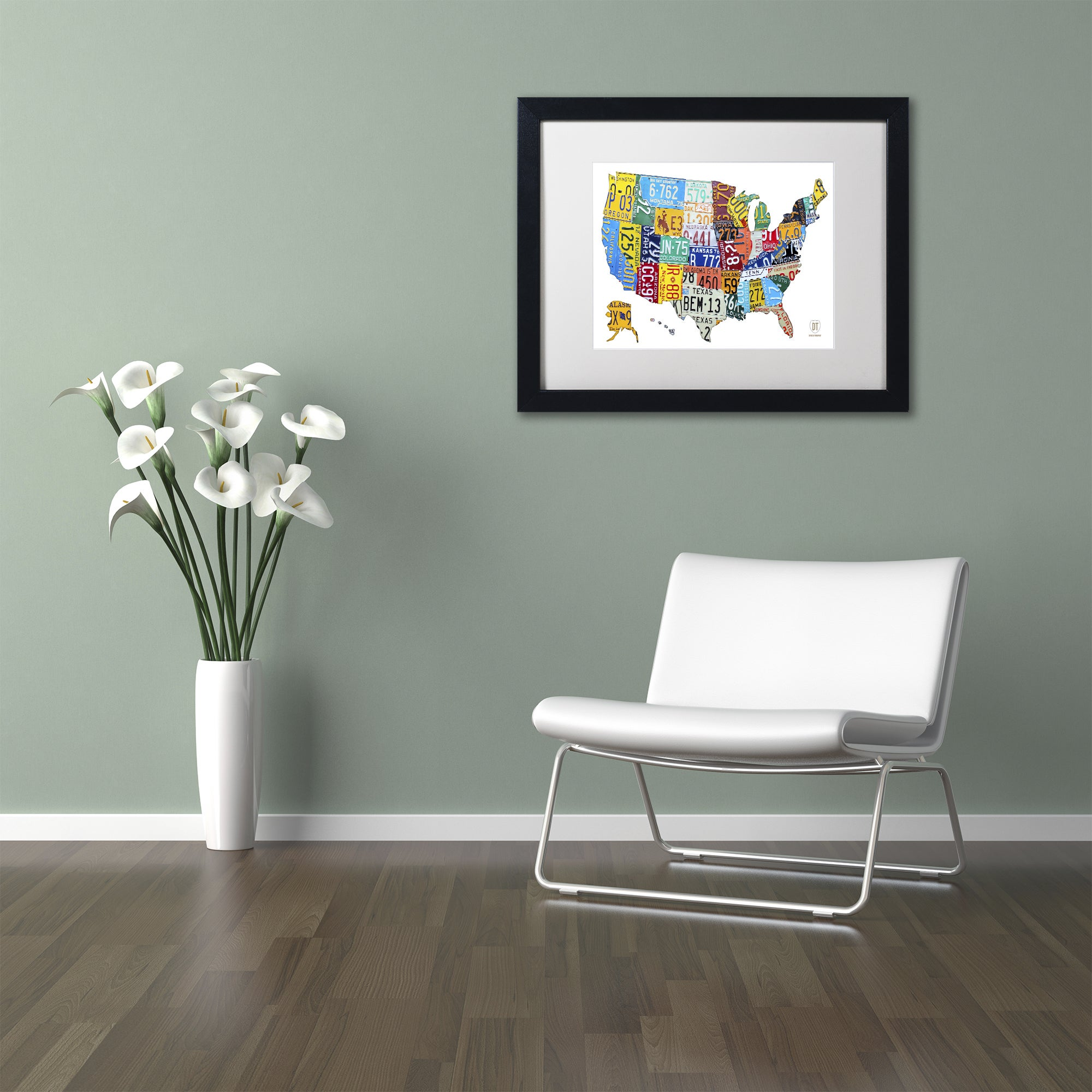 Shop Design Turnpike U0027License Plate Map USA 2u0027 White Matte, Black Framed  Canvas Wall Art   On Sale   Free Shipping Today   Overstock.com   10888153