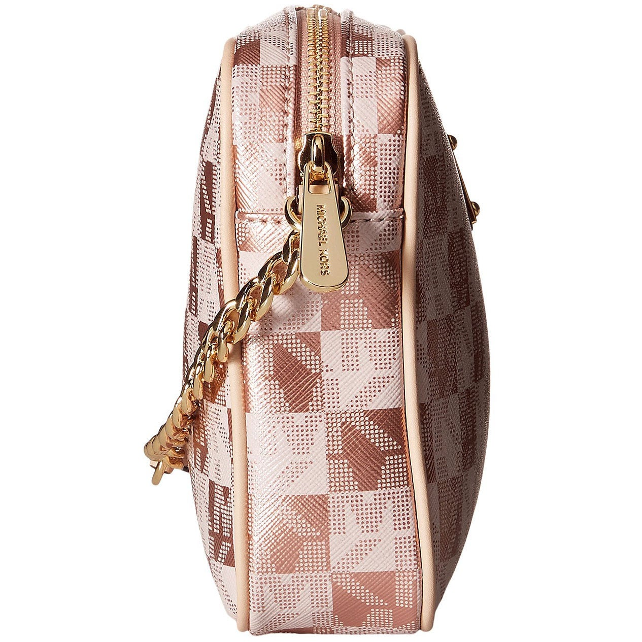 38613bce08f8 Shop Michael Kors Jet Set Large East West Checkerboard Rose Gold Crossbody  - Free Shipping Today - Overstock - 10888555