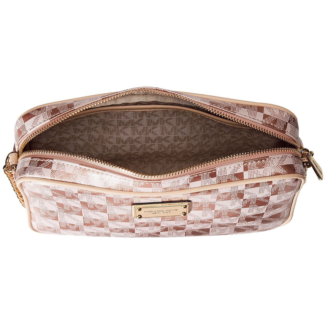 90ffa8b8c3a2 Shop Michael Kors Jet Set Large East West Checkerboard Rose Gold Crossbody  - Free Shipping Today - Overstock - 10888555