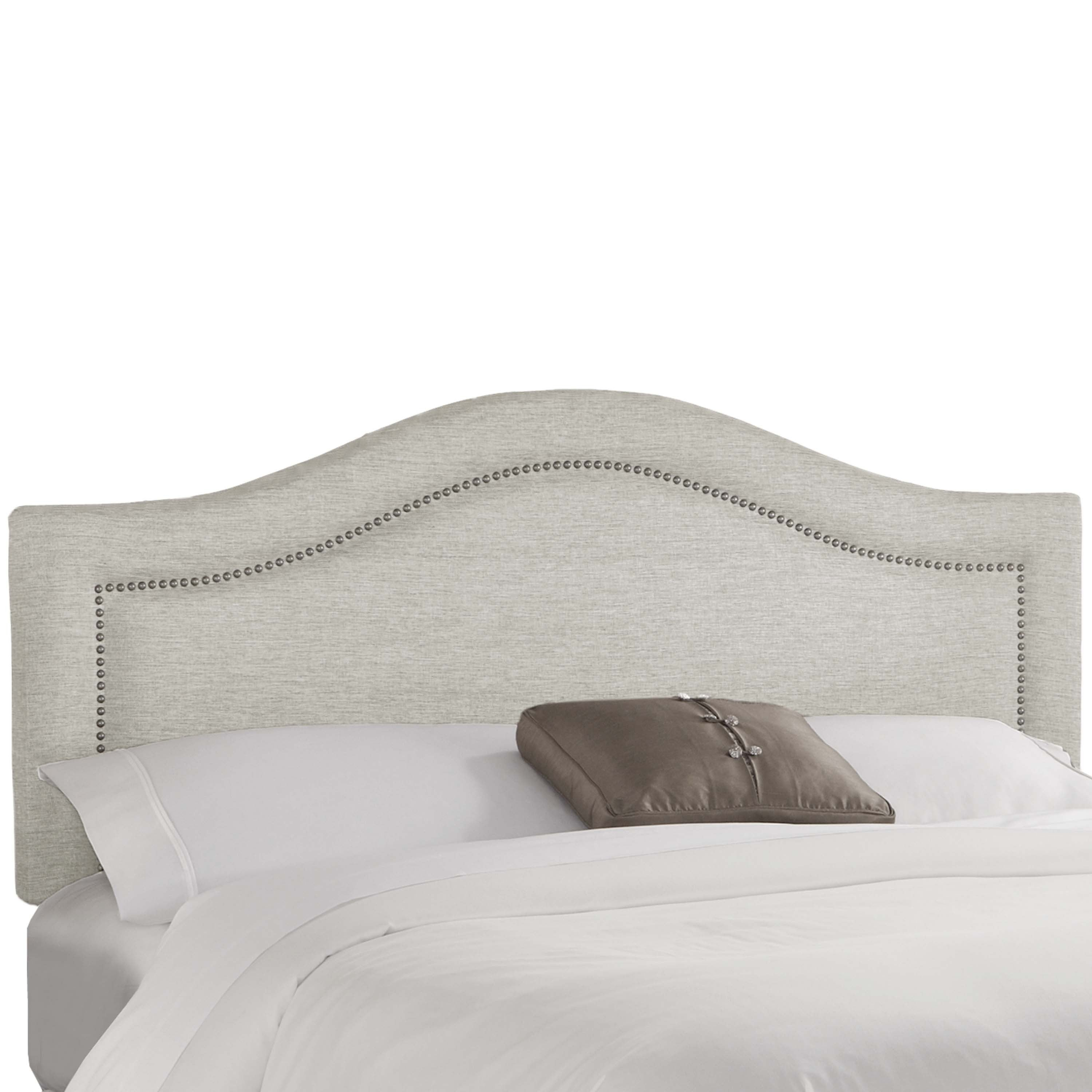 Skyline Furniture Groupie Oyster Inset Nail Button Headboard  Free