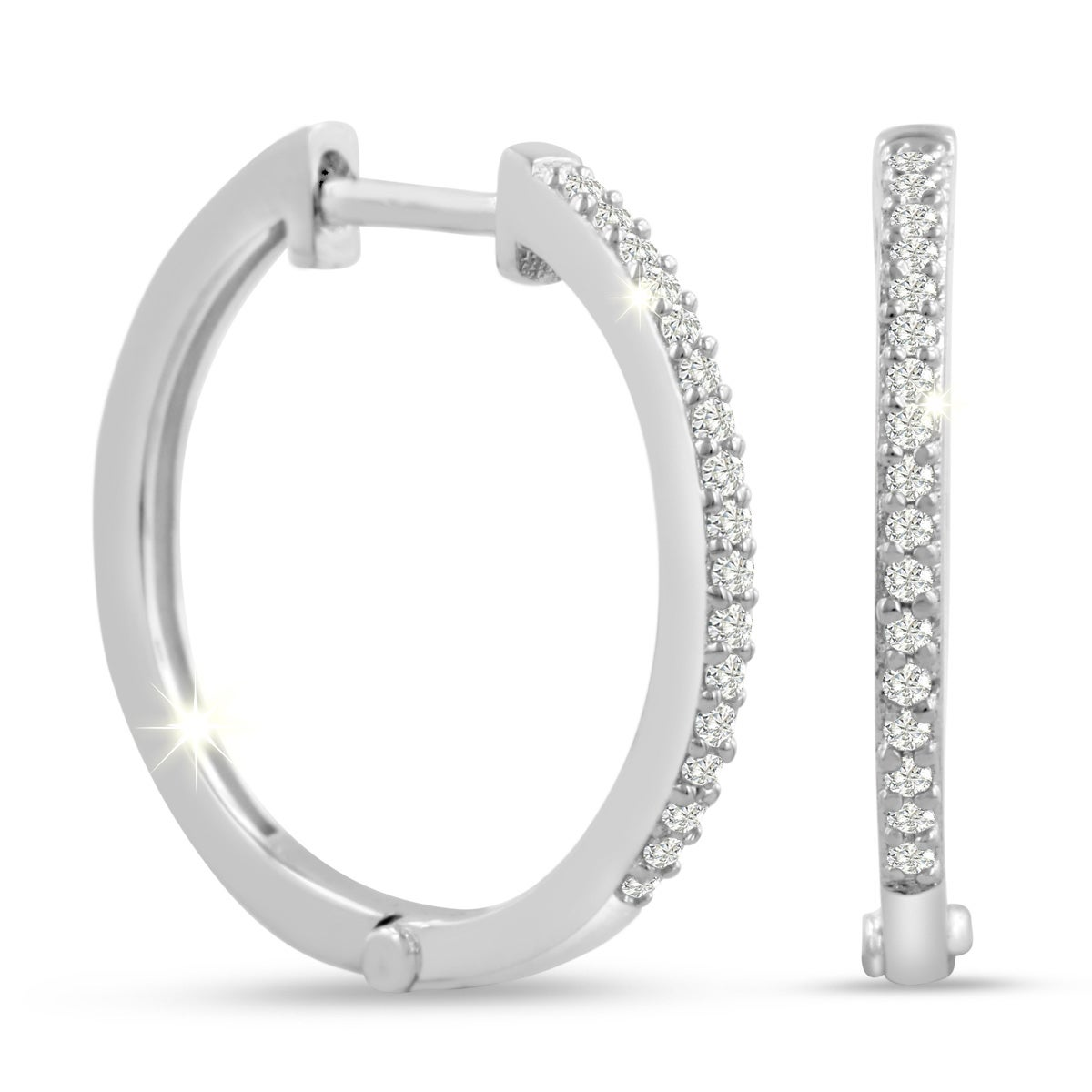 hoop snap back watches today jewelry in backs hidden overstock shipping earrings silver product diamond free sterling