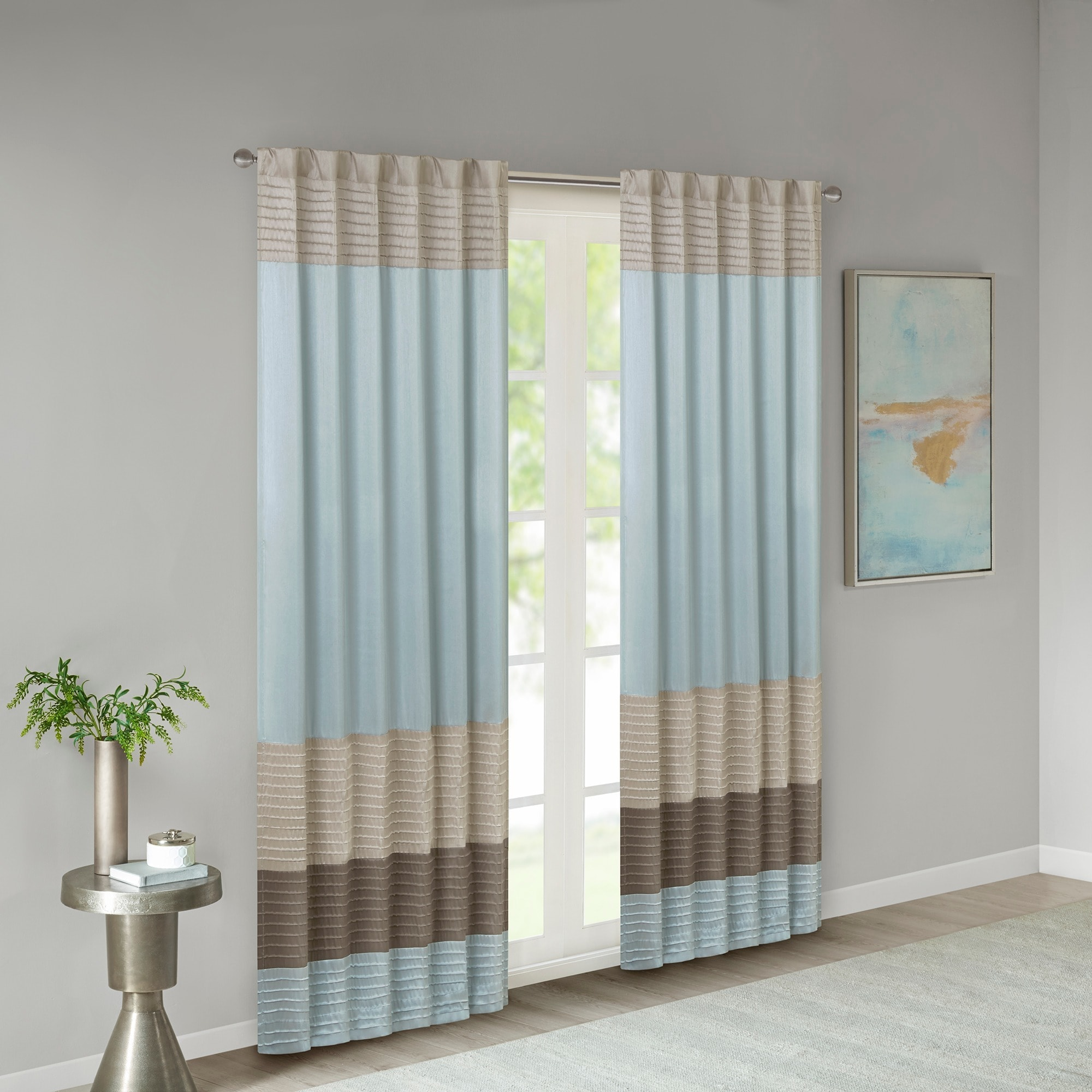 Shop Madison Park Tradewinds Polyoni Pintuck Curtain Panel - 50 x 84 ...