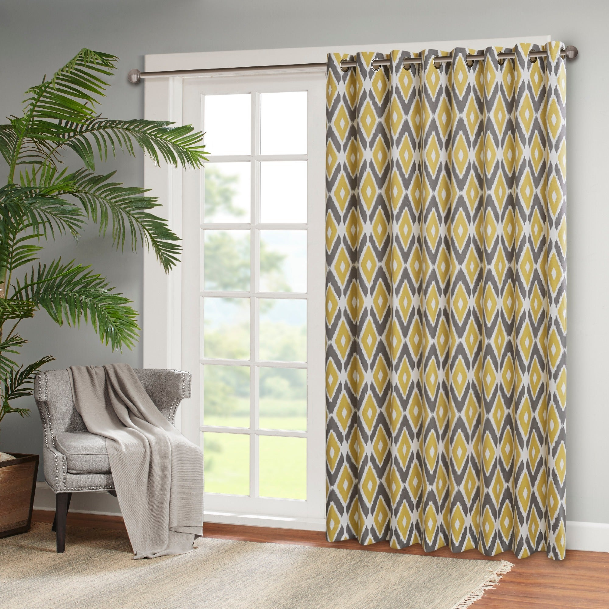 Bon Shop Madison Park Stetsen Diamond Printed Patio Door Curtain Panel   On  Sale   Free Shipping On Orders Over $45   Overstock.com   10889496