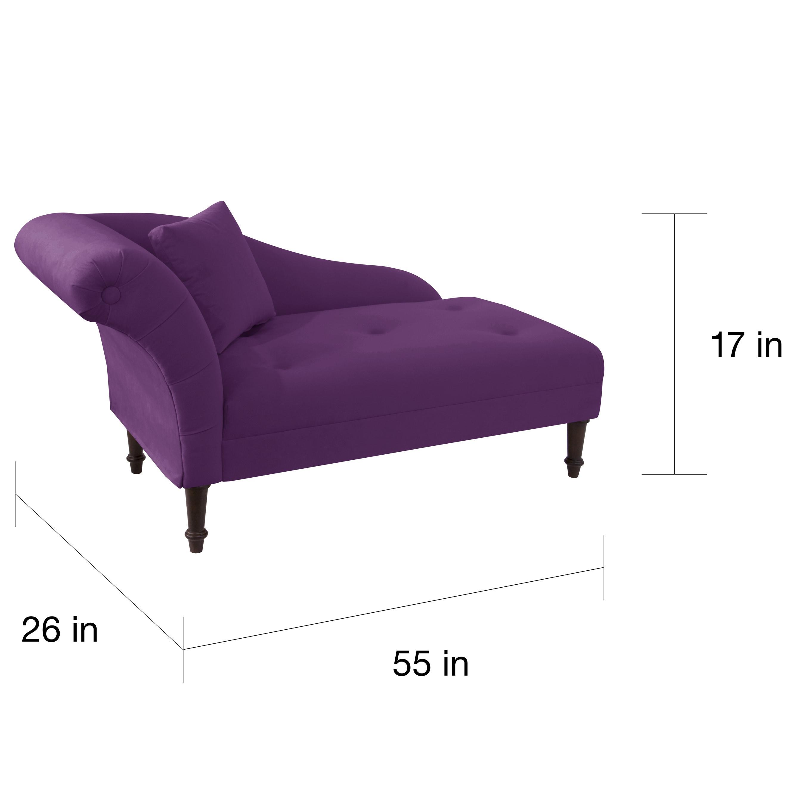 Shop Skyline Furniture Aubergine Velvet Settee   Free Shipping Today    Overstock.com   10897679