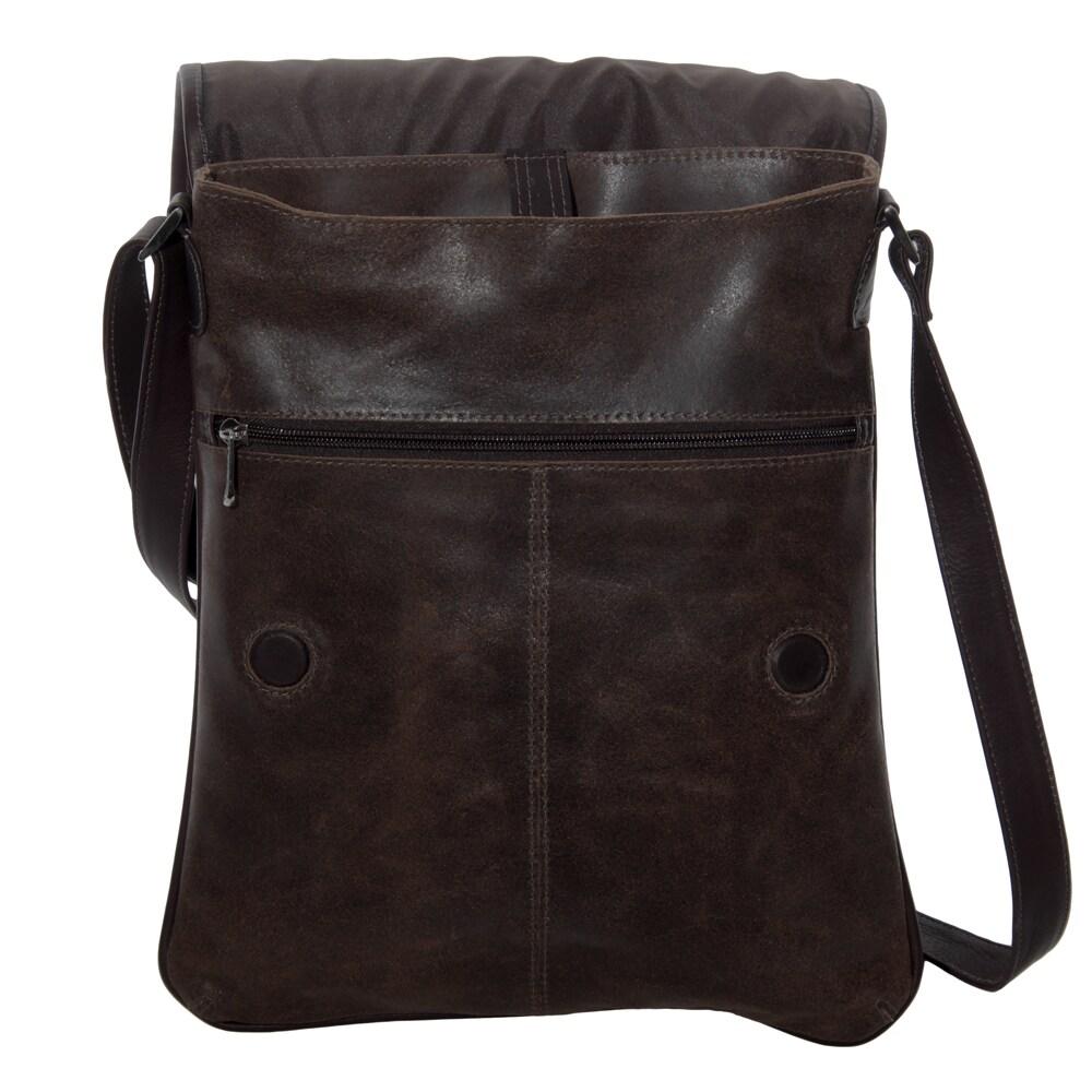 7d4cdcbff0a9 Shop Piel Leather Vintage Laptop Vertical Slim Messenger Bag - On Sale -  Free Shipping Today - Overstock.com - 10897883
