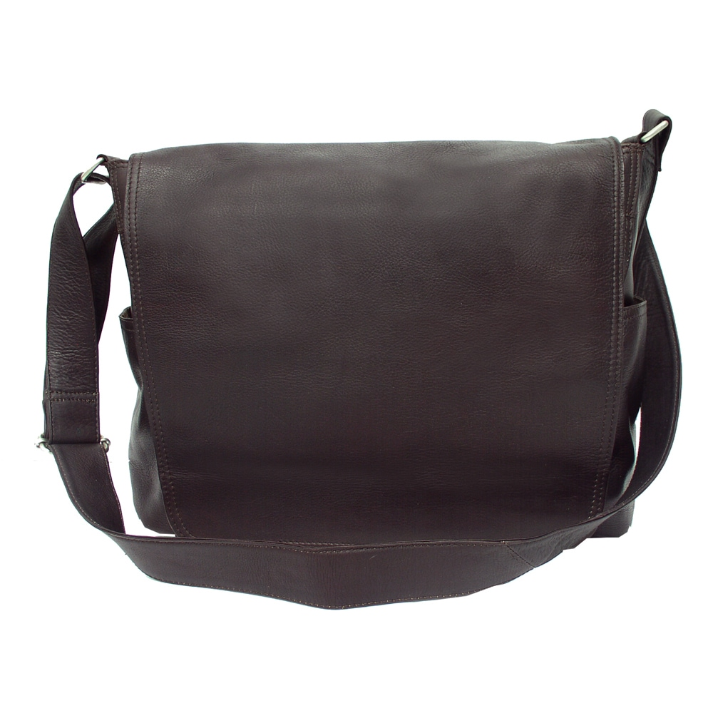 Shop Piel Leather Urban Messenger Bag - Free Shipping Today ... 4d53370d45b5b