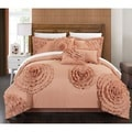 Chic Home 11-piece Buxton Peach Oversized Comforter Set