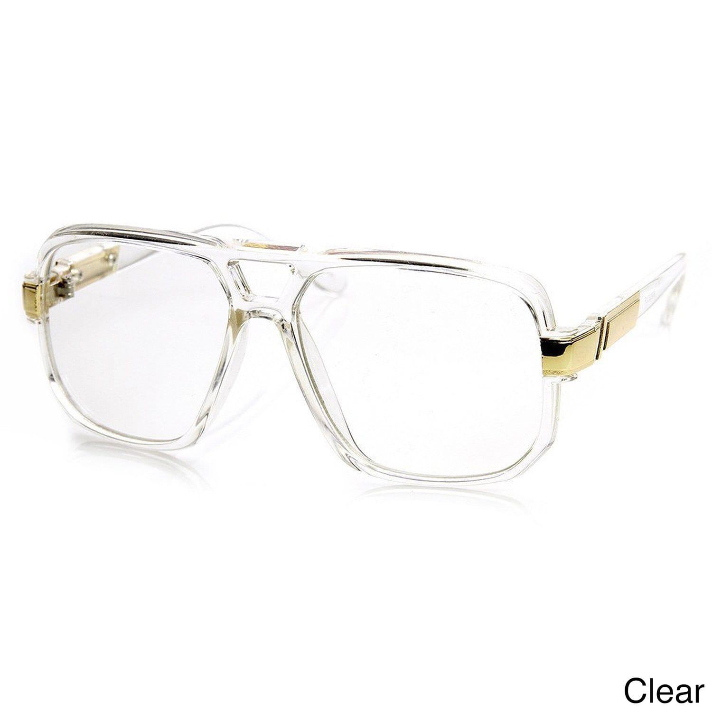 Shop Epic Eyewear Run DMC-Style Square Frame Plastic Clear Lens ...